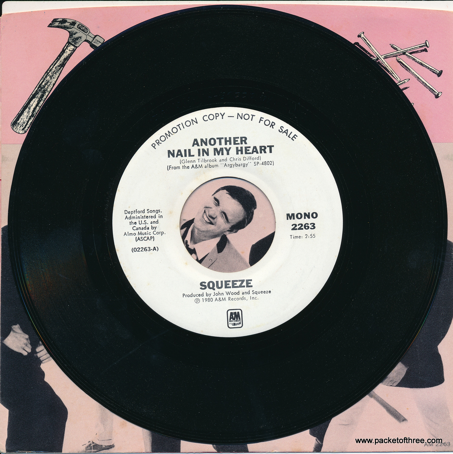 """Another Nail In My Heart - USA - 7"""" - Picture Sleeve - Mono/Stereo Promotional Copy"""