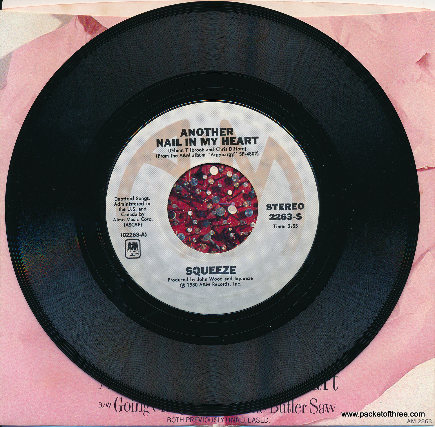 "Another Nail In My Heart - USA - 7"" - Picture Sleeve"