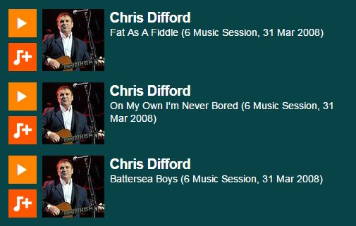 2008-03-31 Chris Difford 6Music Session