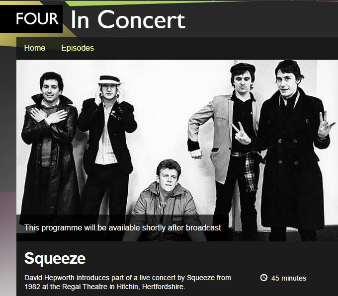 BBC4 Hitchin Squeeze Concert