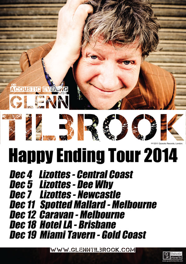 Glenn Tilbrook Happy Ending Tour 2014