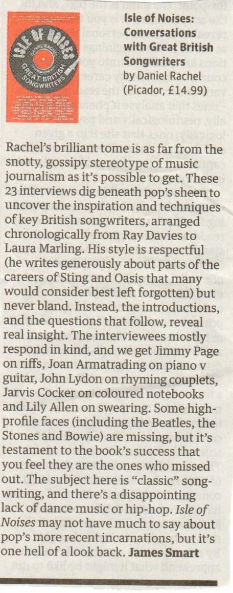 Guardian paperback review - Isle of Noises