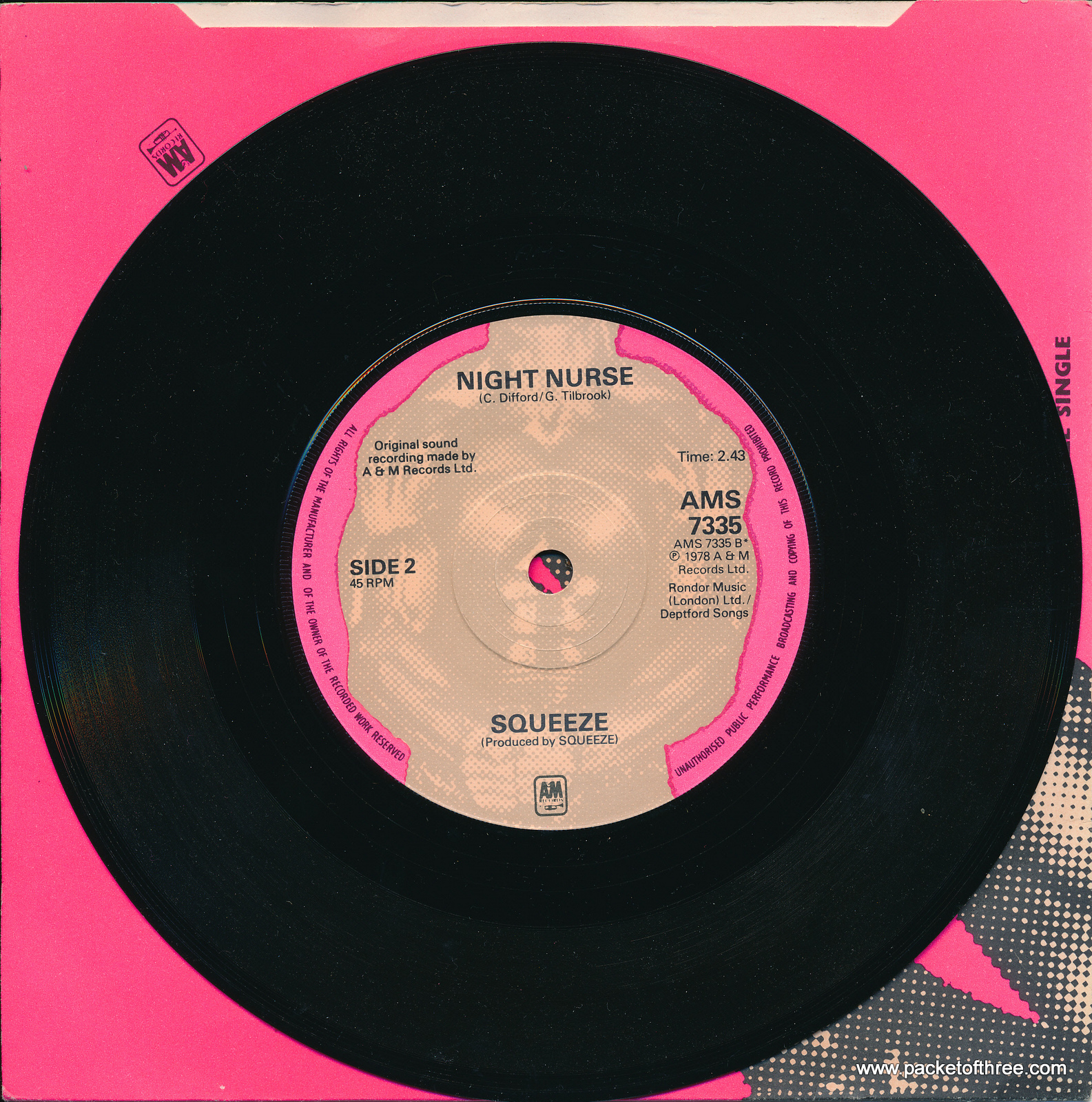 "Take Me I'm Yours - UK - 7"" - picture sleeve"