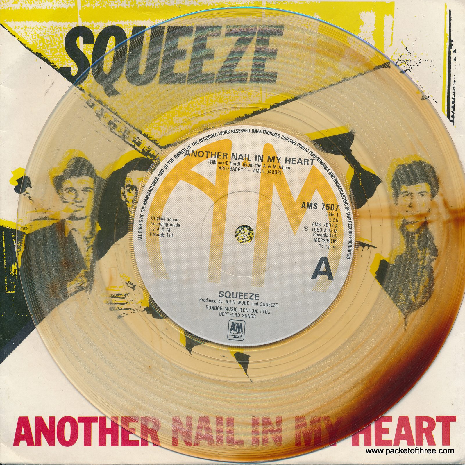"Another Nail in My Heart - UK - 7"" - brown/clear marbled vinyl"