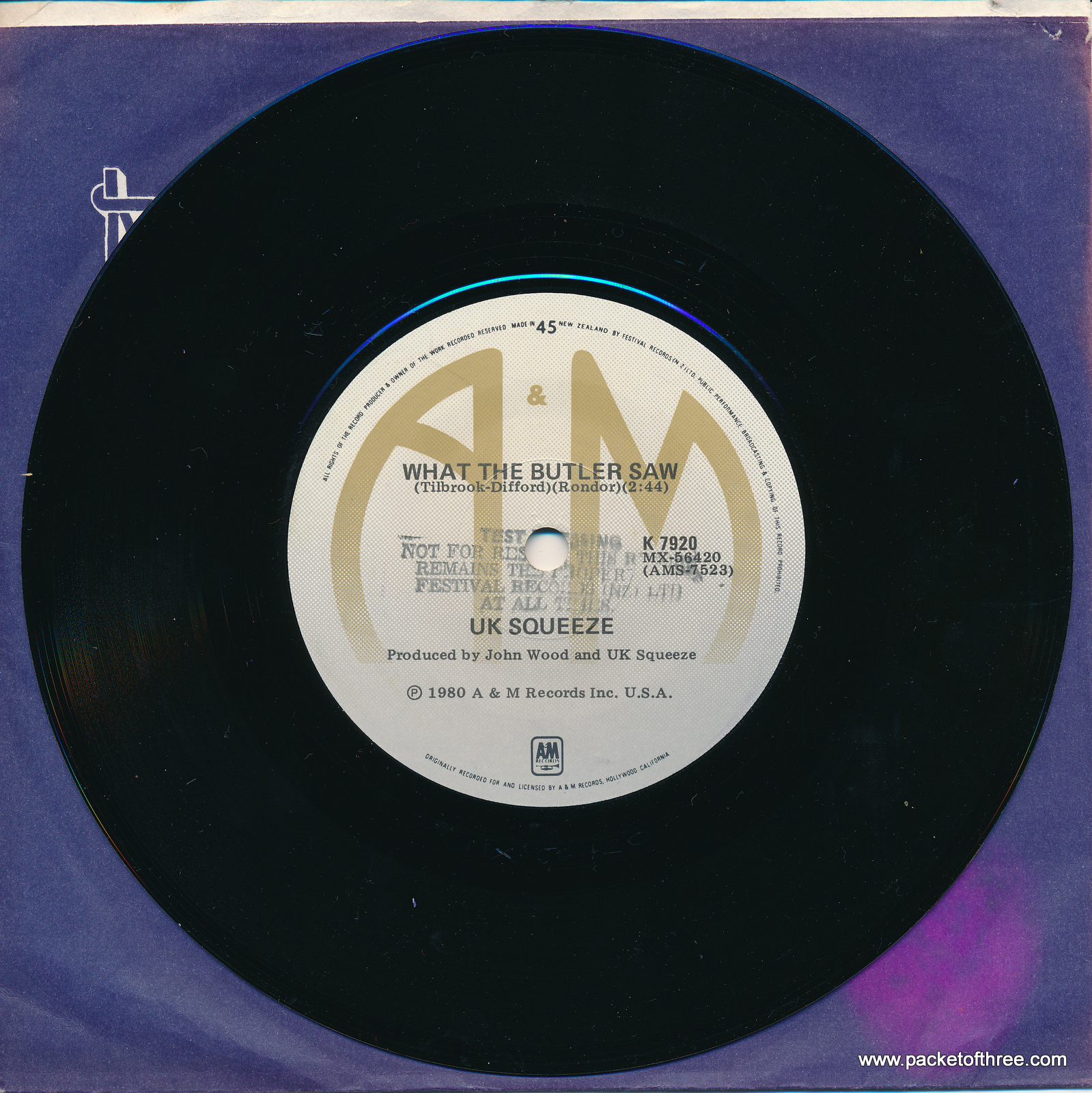 """Pulling Mussels (From the Shell) - New Zealand - 7"""" - test pressing"""