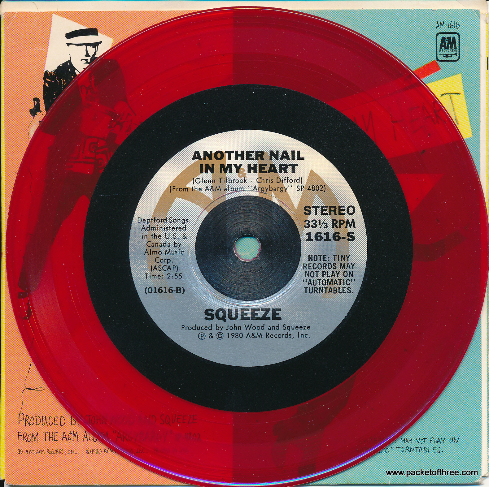 "If I Didn't Love You - USA - 5"" - red vinyl picture sleeve"