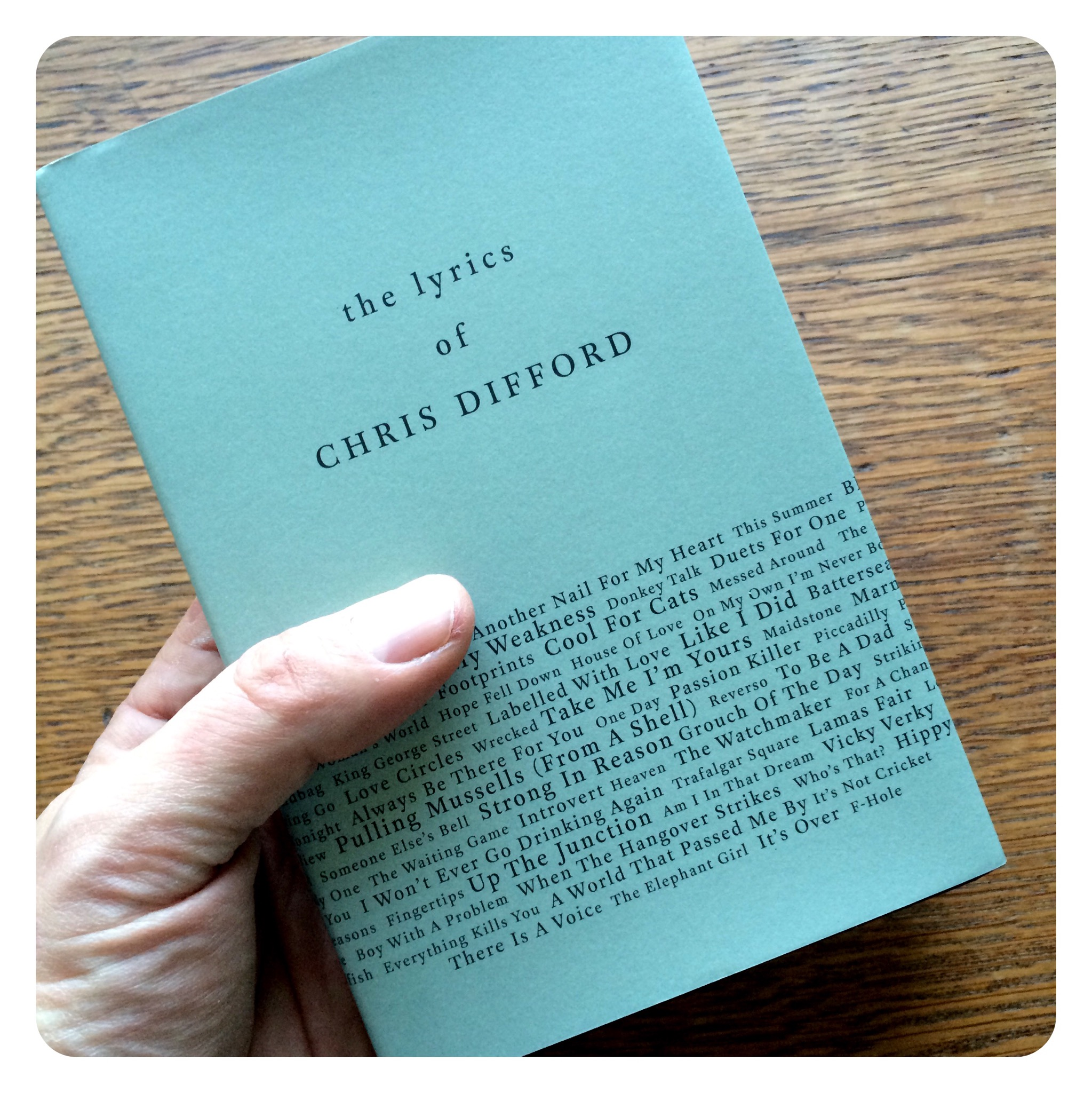 Chris Difford's Lyrics - Lyric Book