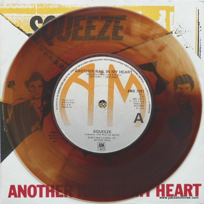"Another Nail In My Heart - UK - 7"" - mottled brown vinyl - picture sleeve"