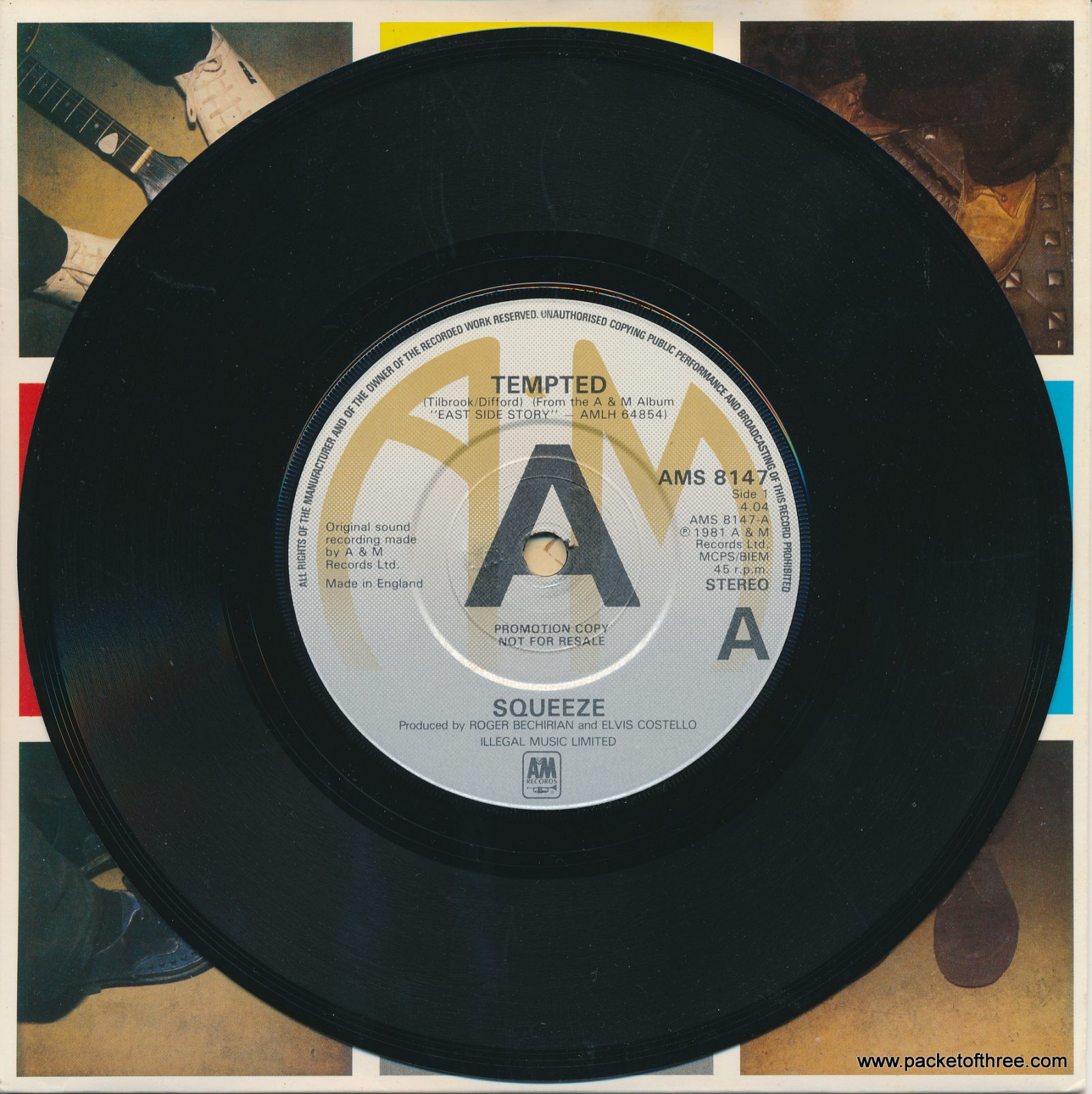 "Tempted - UK - 7"" - picture sleeve - promotional copy"