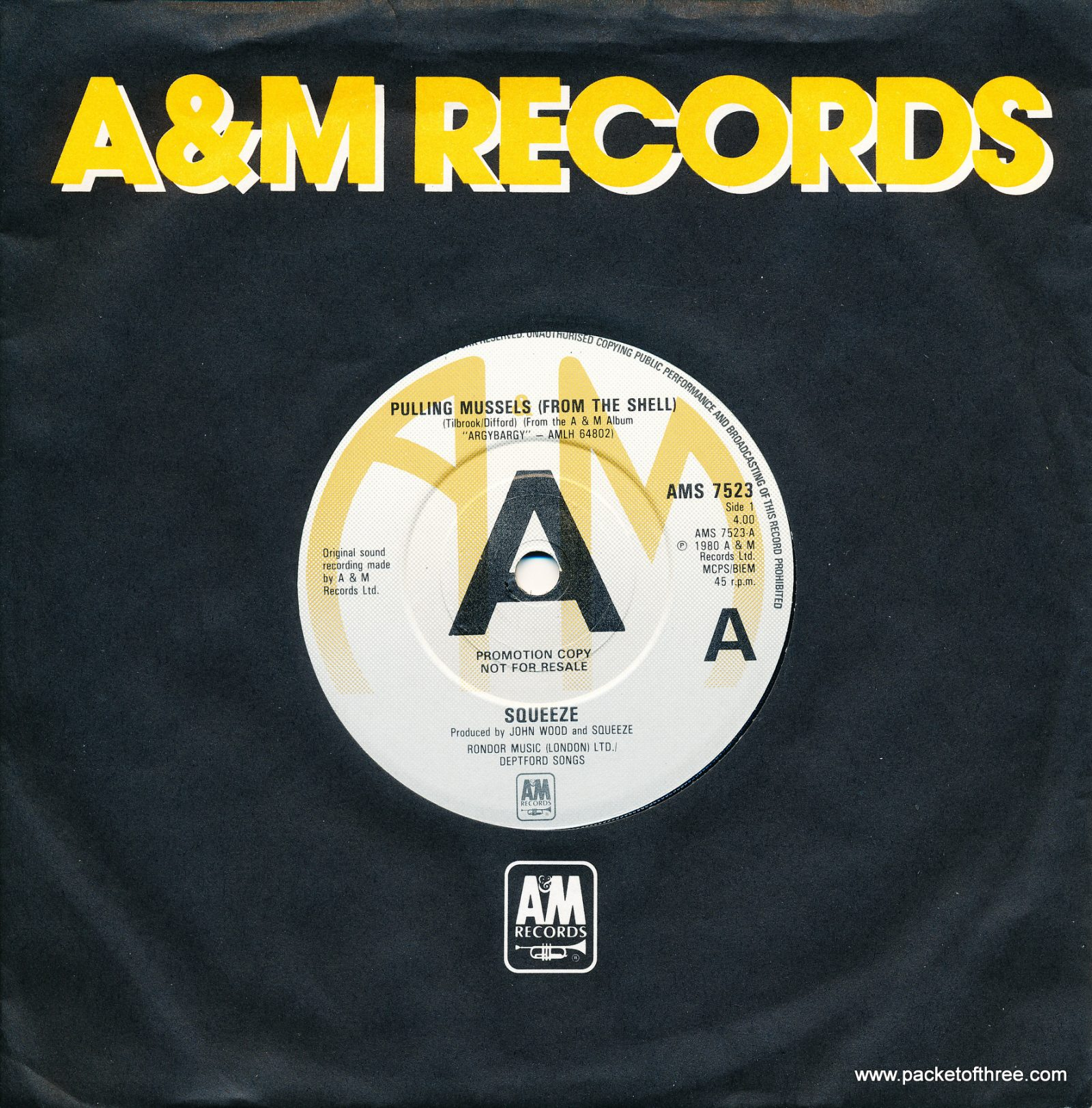 """Pulling Mussels (From the Shell) - UK - 7"""" - promotional copy"""