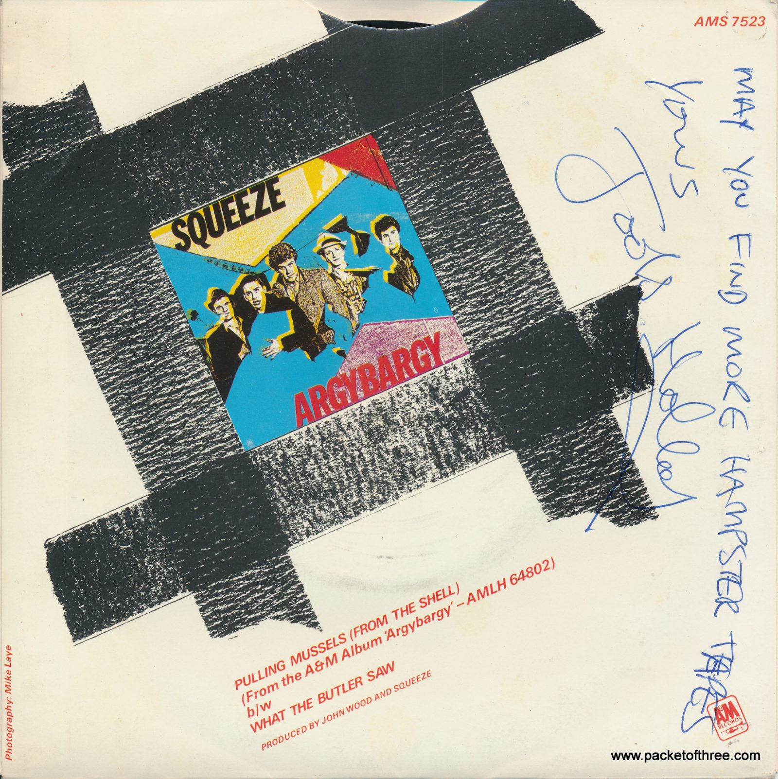 """Pulling Mussels (From the Shell) - UK - 7"""" - pictuire sleeve - promotional copy"""