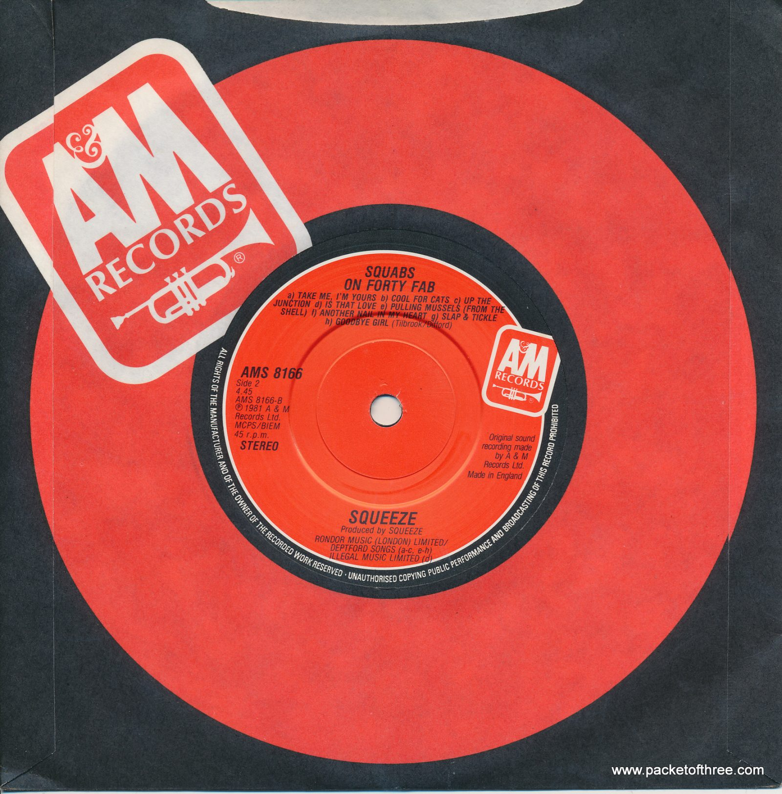 "Labelled With Love - UK - 7"" - red label"