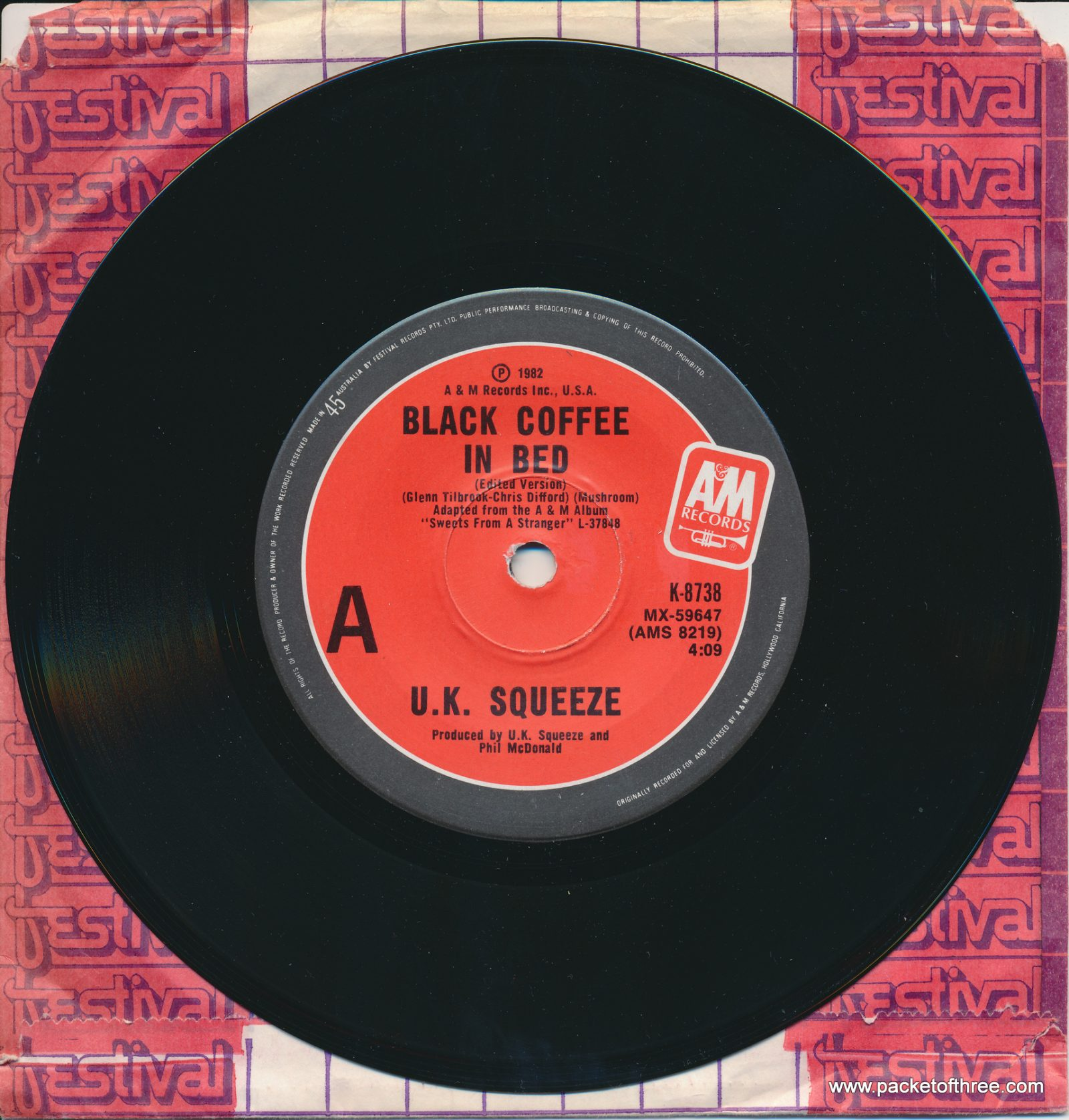"Black Coffee In Bed - Australia - 7"""