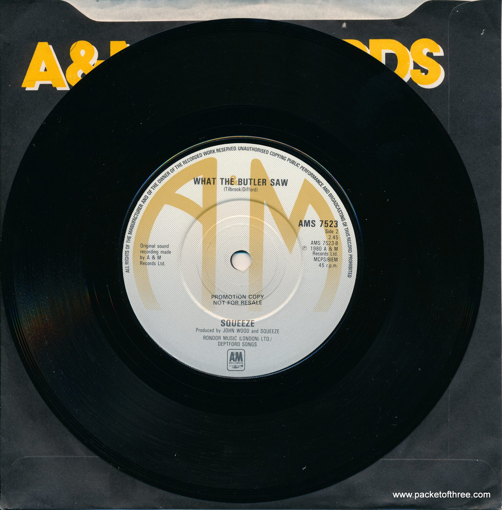 "Pulling Mussels (From the Shell) - UK - 7"" - promotional copy"