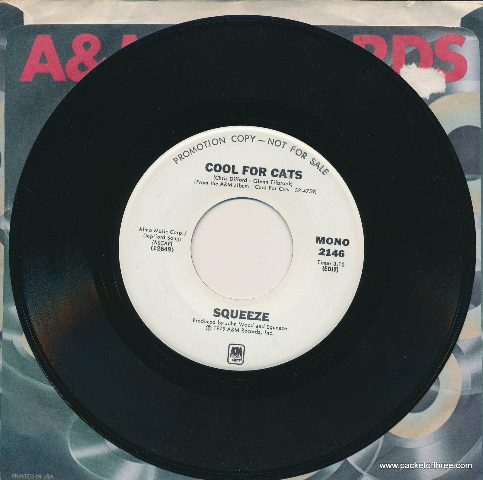 Cool For Cats (edit) – USA – 7″ – mono/stereo promo