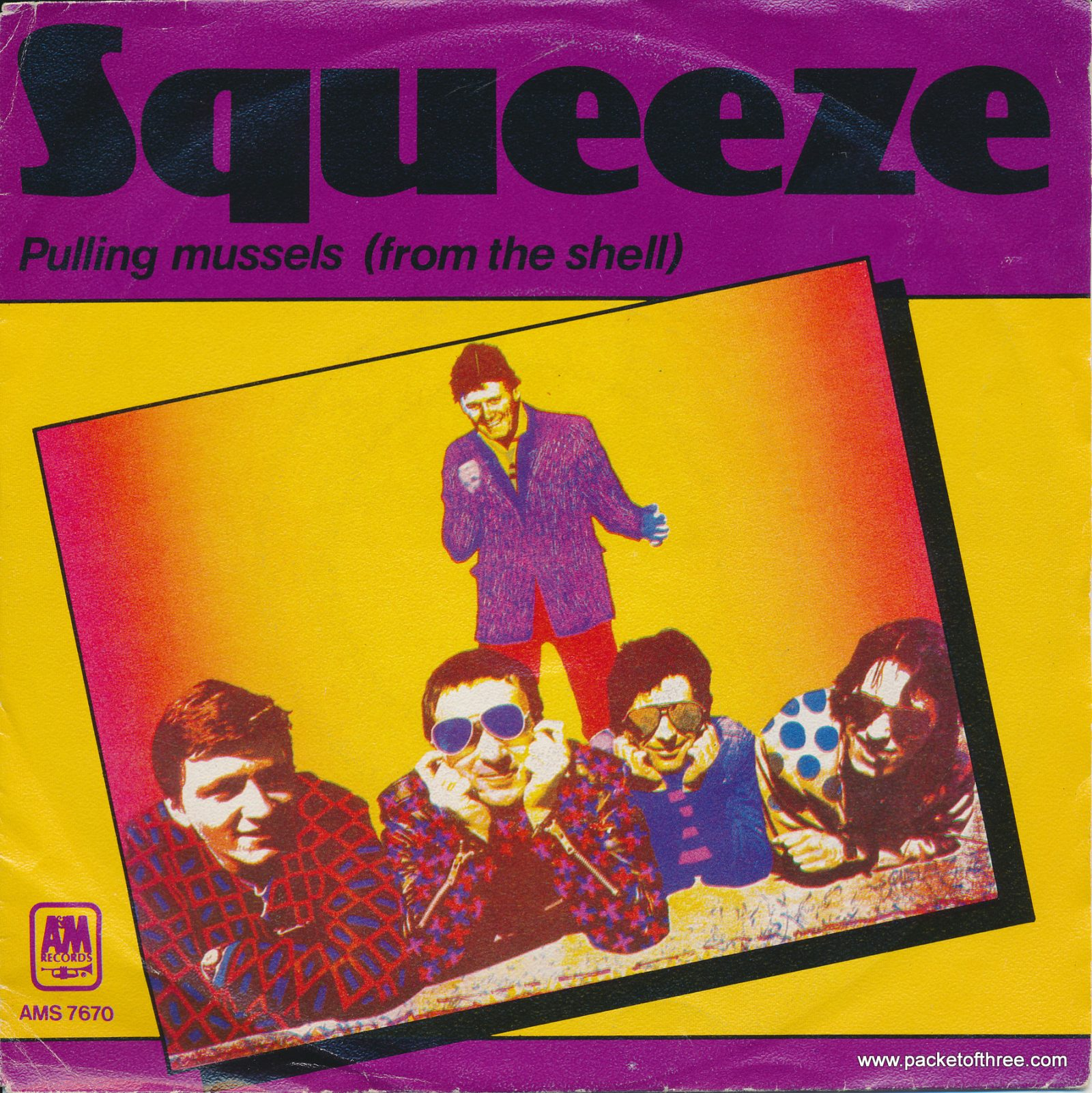 "Pulling Mussels (From the Shell) - Netherlands - 7"" - alternate picture sleeve"