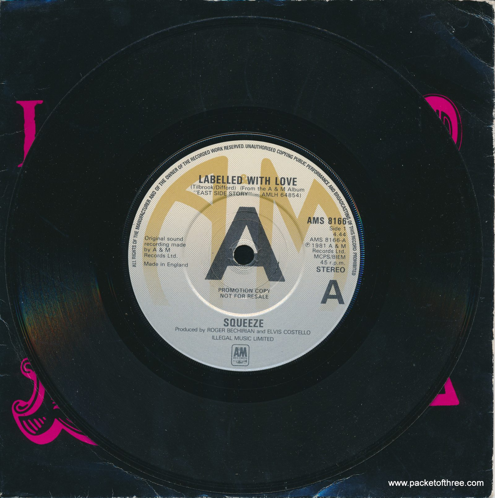 "Labelled With Love - UK - 7"" - withdrawn picture sleeve - promotional copy"