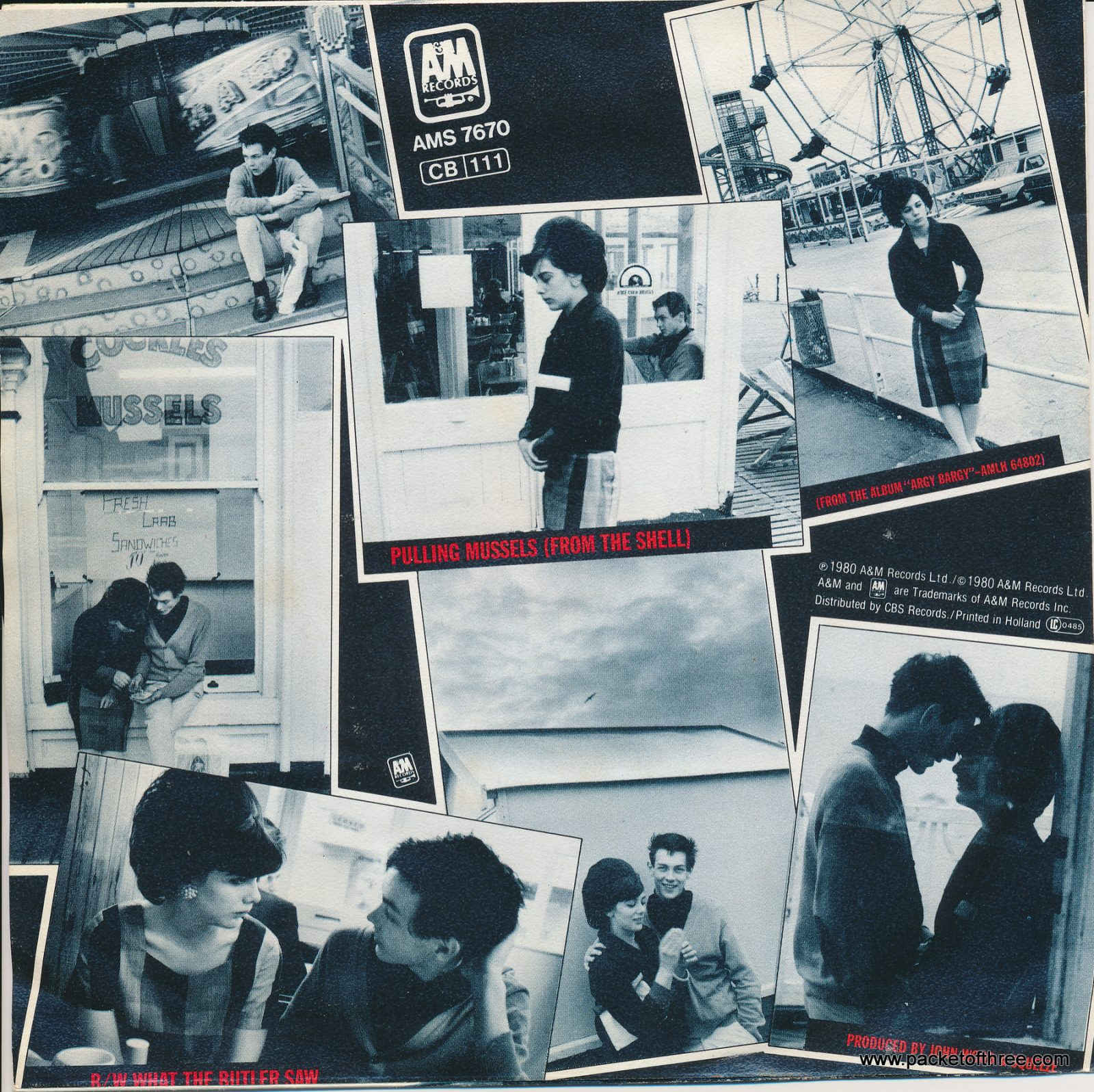 """Pulling Mussels (From the Shell) - Netherlands - 7"""" - picture sleeve"""