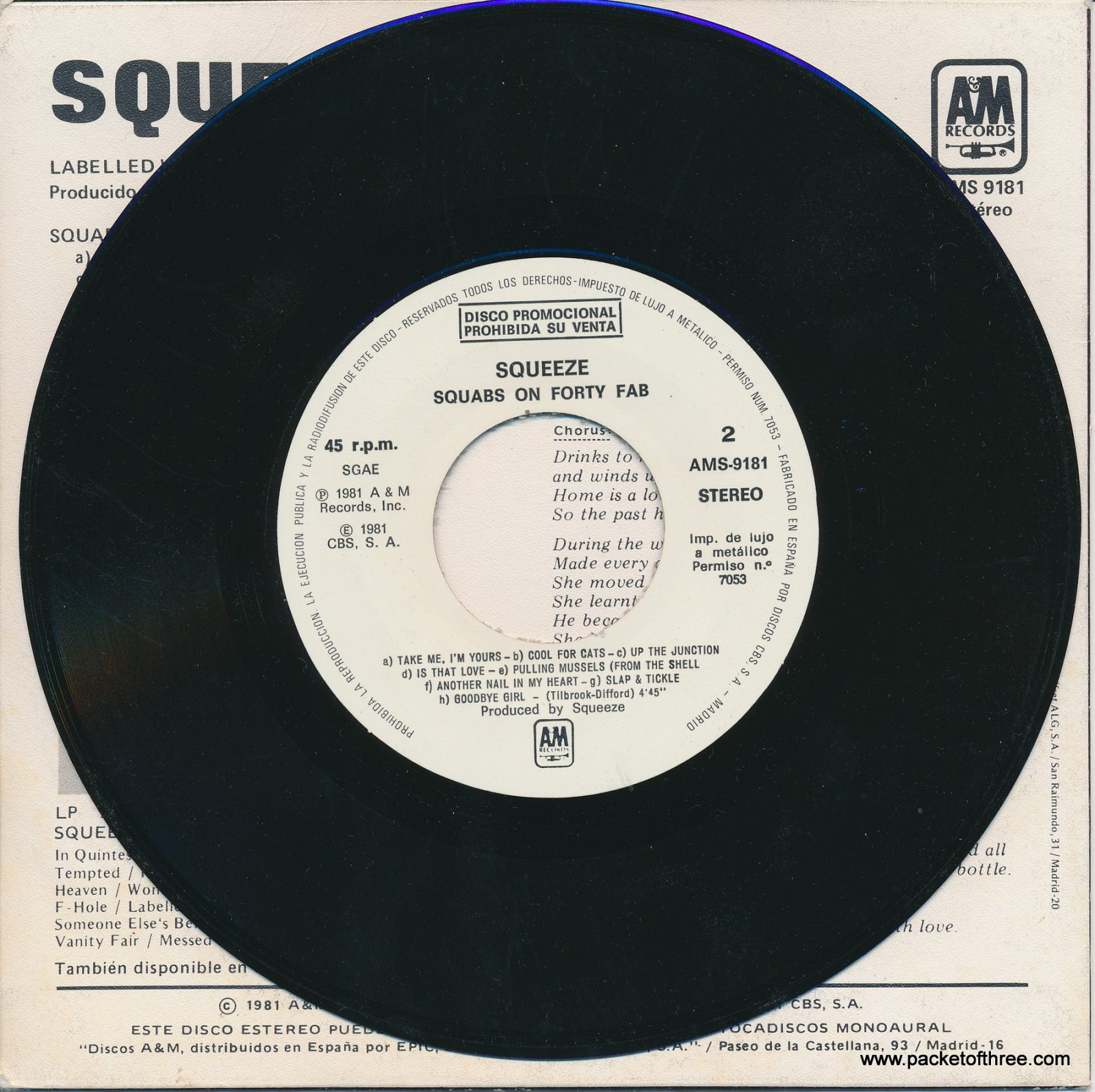 """Labelled With Love - Spain - 7"""" - picture sleeve - promotional copy"""
