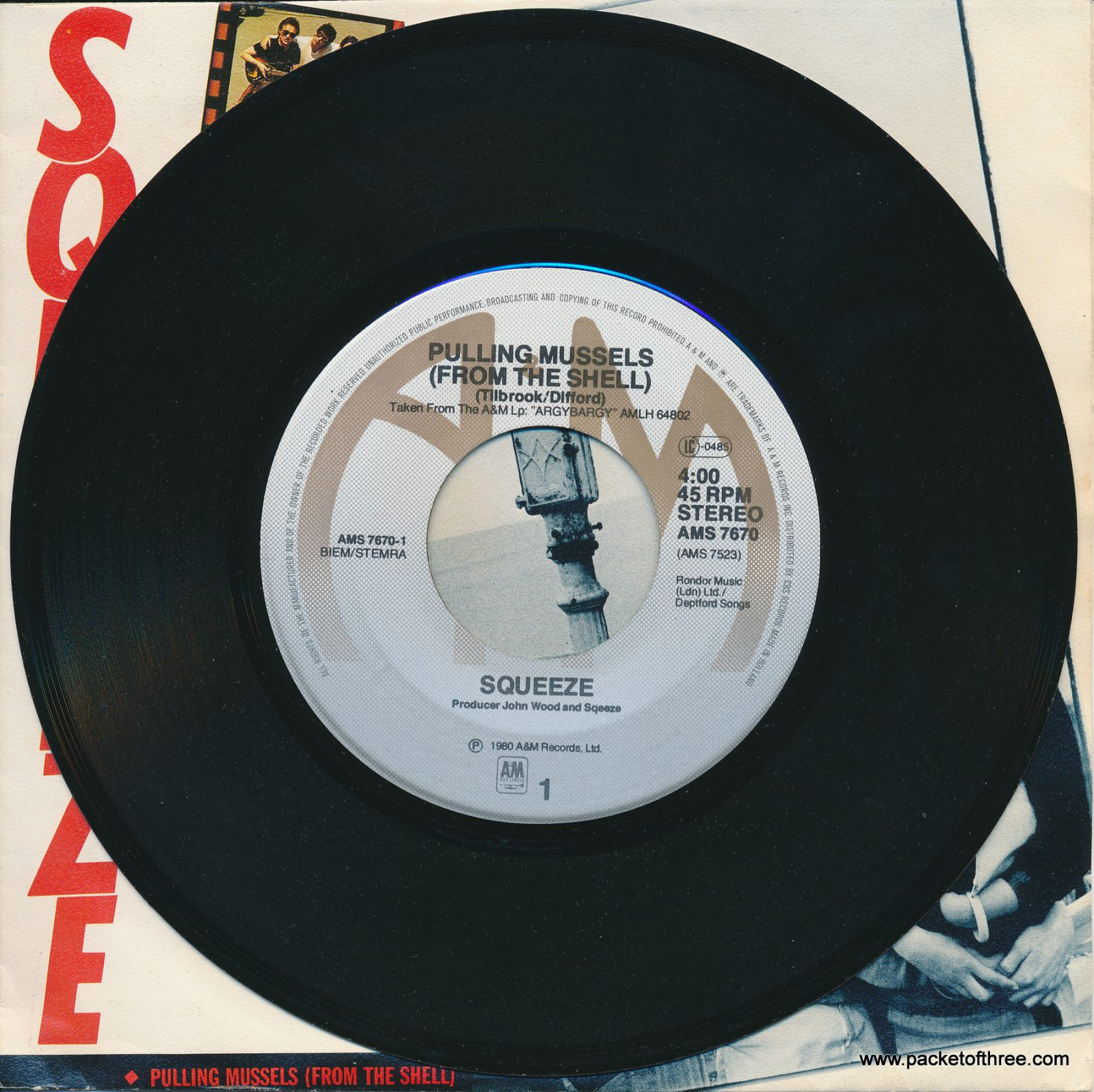 "Pulling Mussels (From the Shell) - Netherlands - 7"" - picture sleeve"