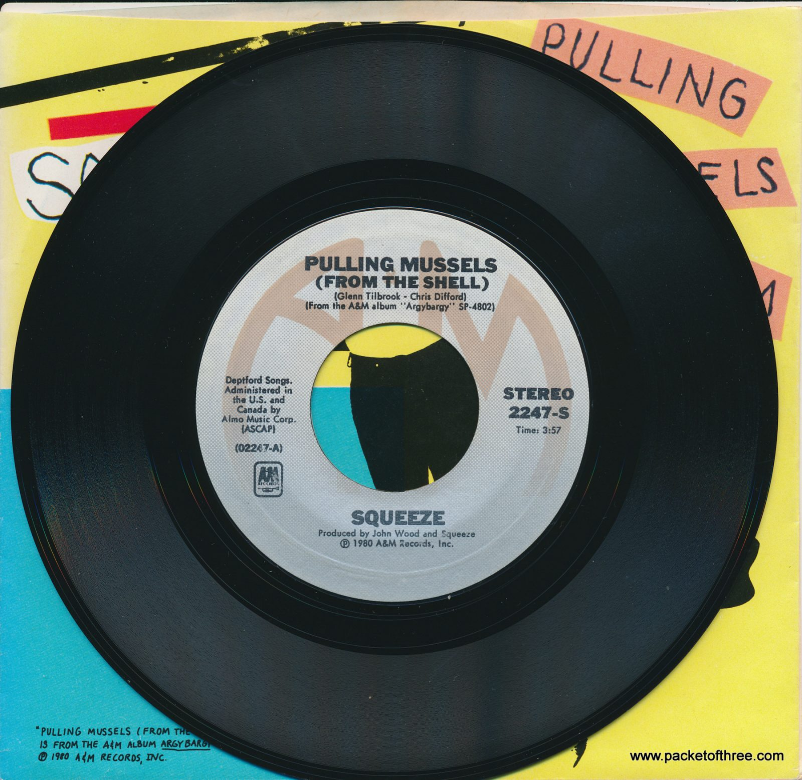 "Pulling Mussels (From the Shell) - USA - 7"" - picture sleeve"