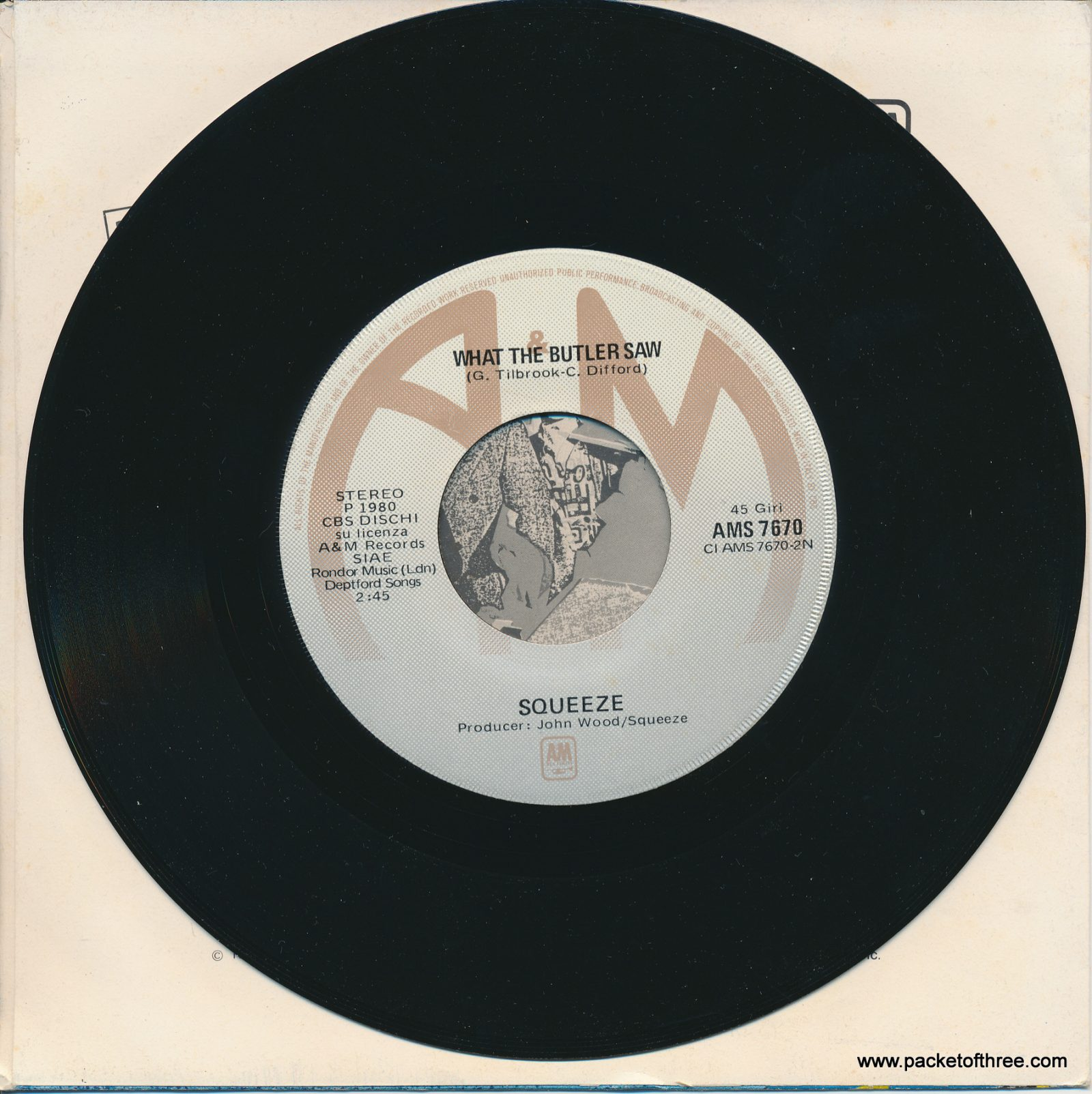 "Pulling Mussels (From the Shell) - Italy- 7"" - picture sleeve"