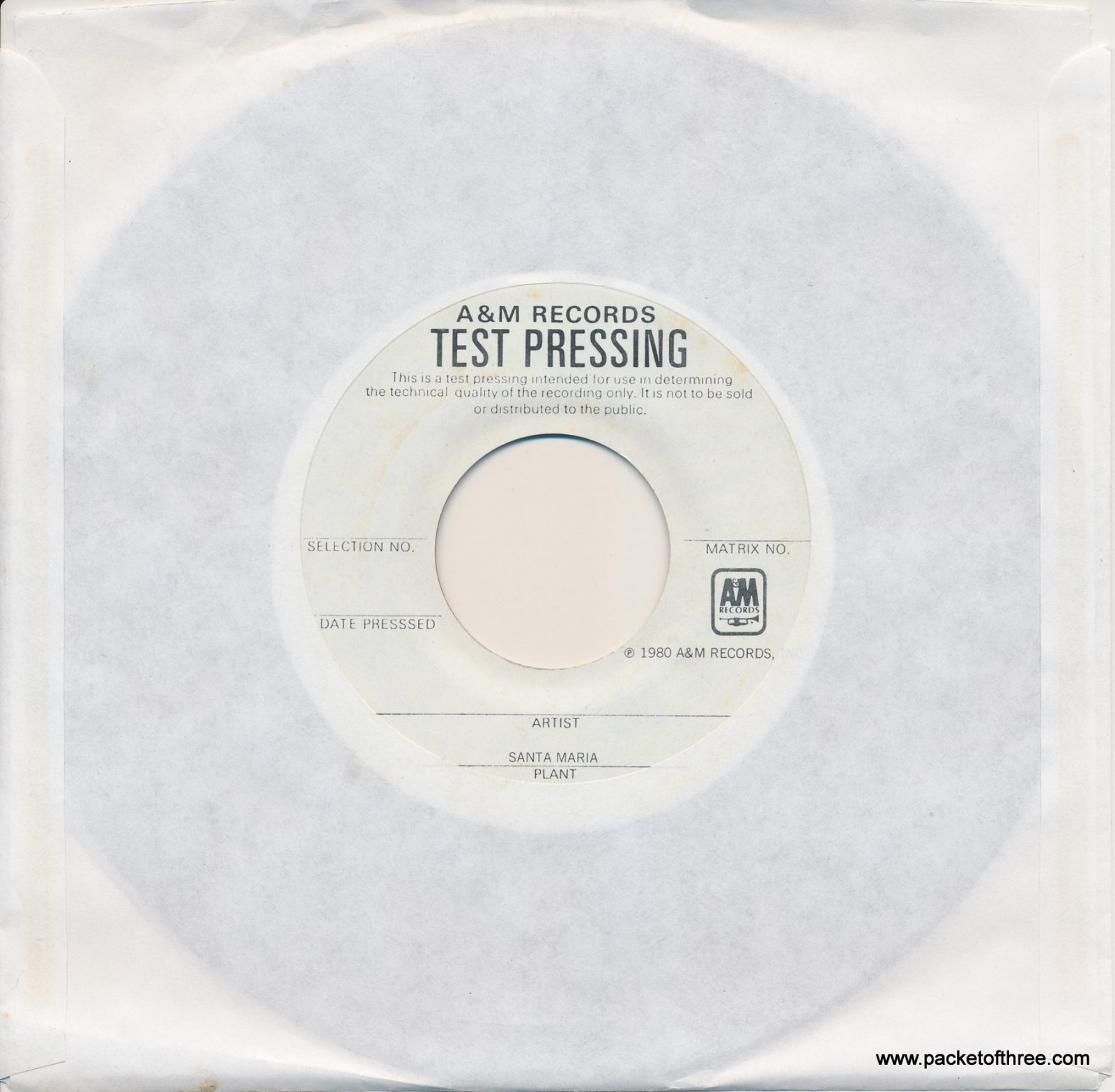 "Pulling Mussels (From the Shell) - USA - 7"" - test pressing"