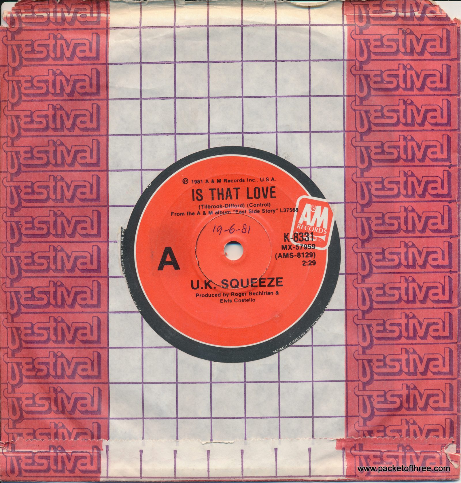 Is That Love - Australia 7""