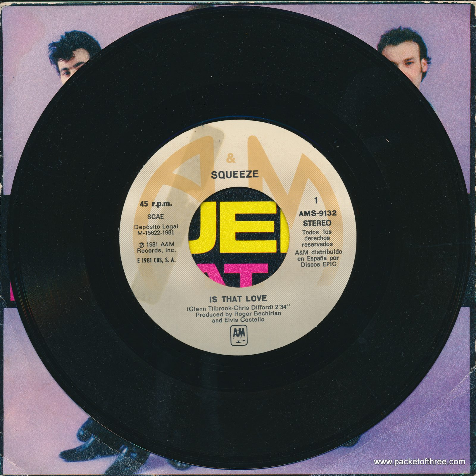"""Is That Love - Spain - 7"""" - picture sleeve"""