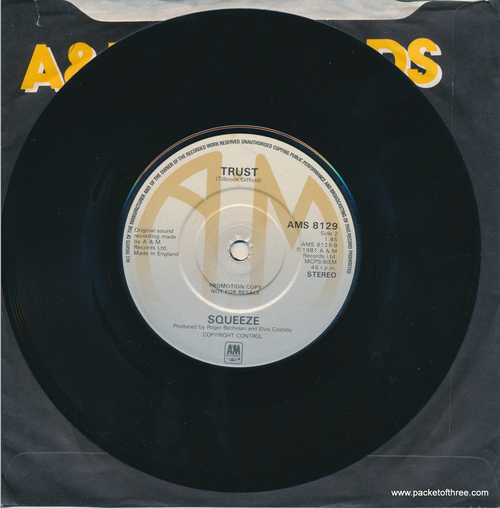 """Is That Love - UK - 7"""" - promotional copy"""