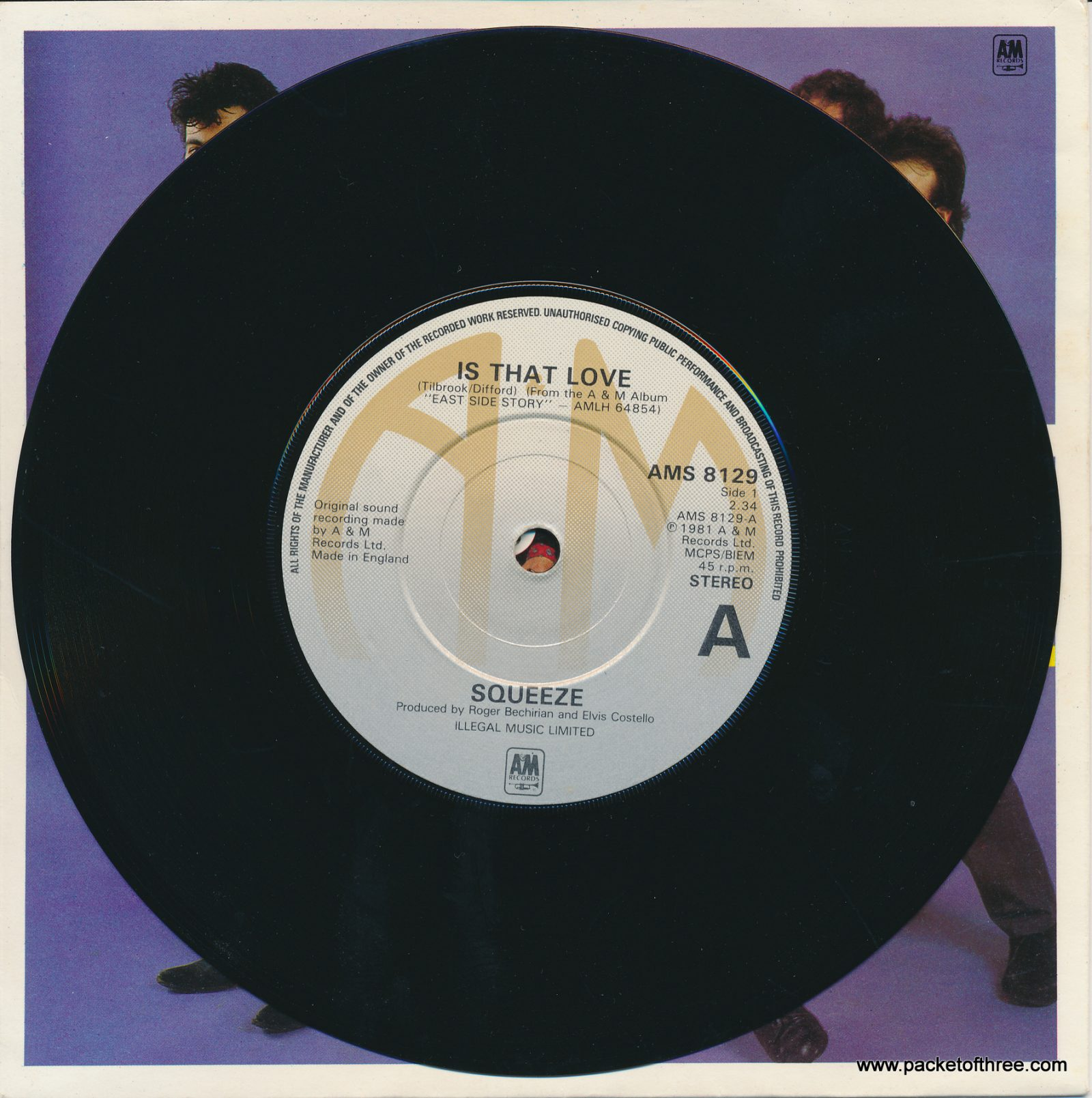 """Is That Love - UK - 7"""" - picture sleeve - embossed label"""