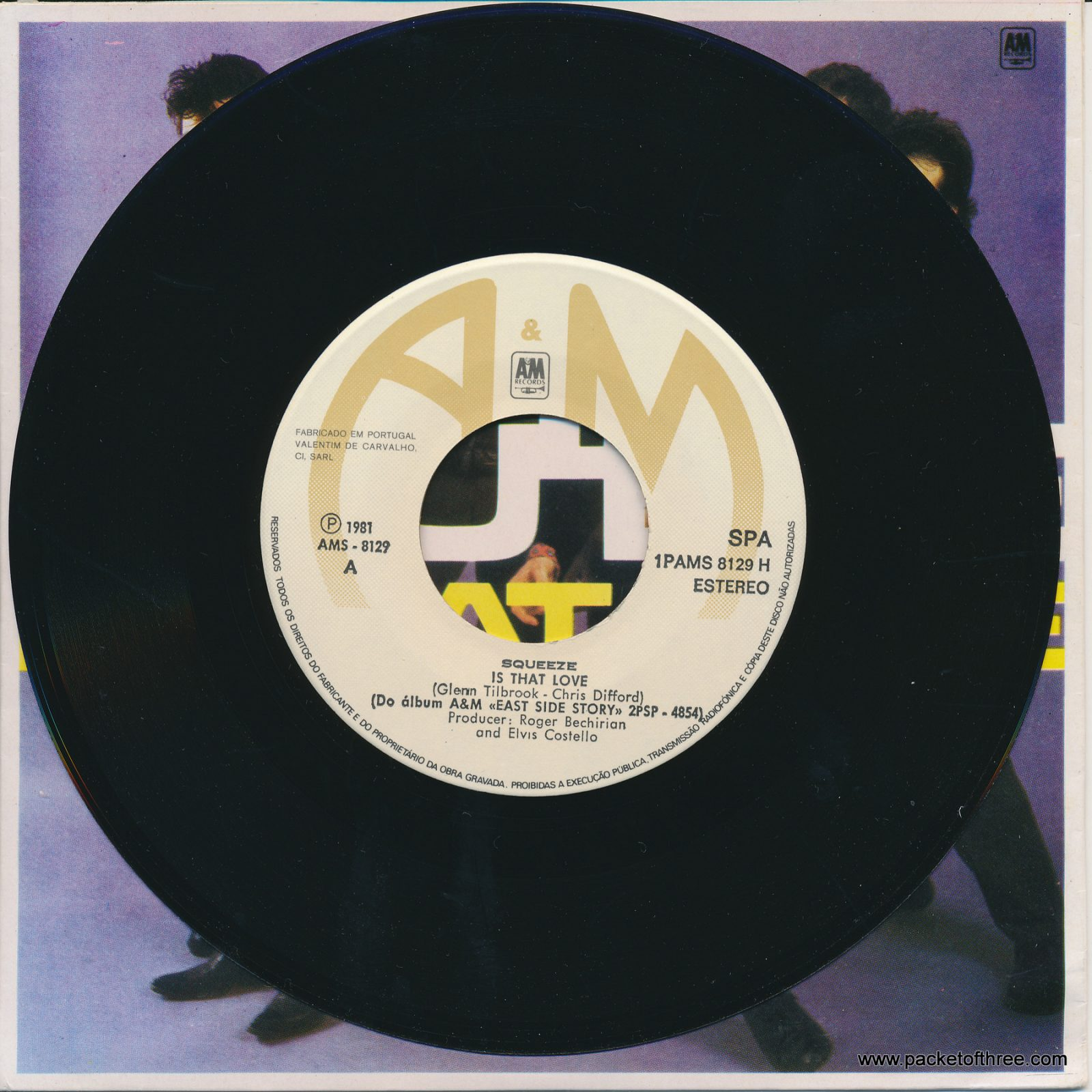"Is That Love - Portugal - 7"" - picture sleeve"