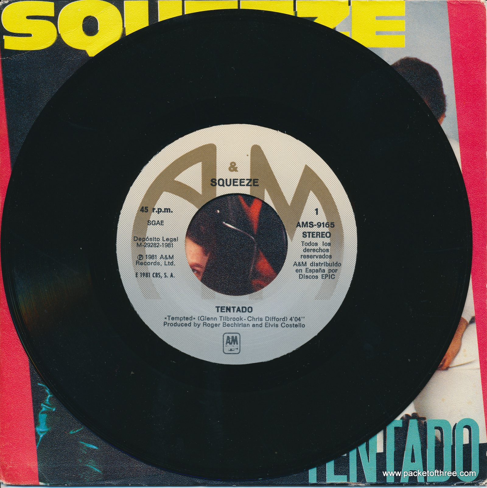 """Tempted - Spain - 7"""" - picture sleeve"""