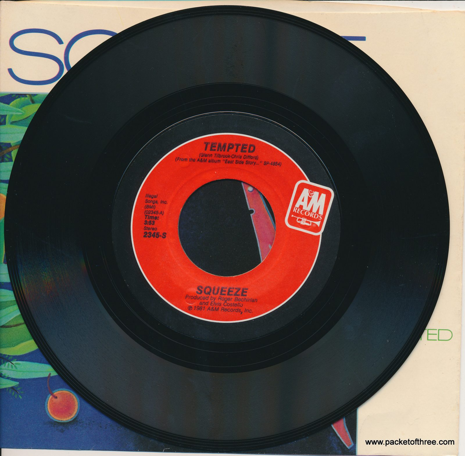 """Tempted - USA - 7"""" - picture sleeve"""