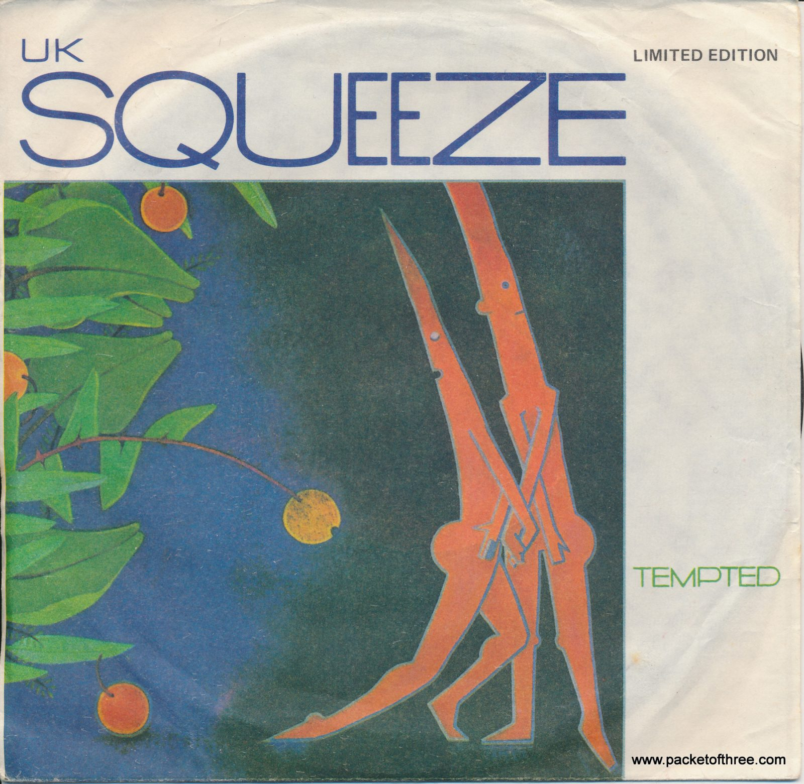 """Tempted - Australia - 7"""" - picture sleeve"""