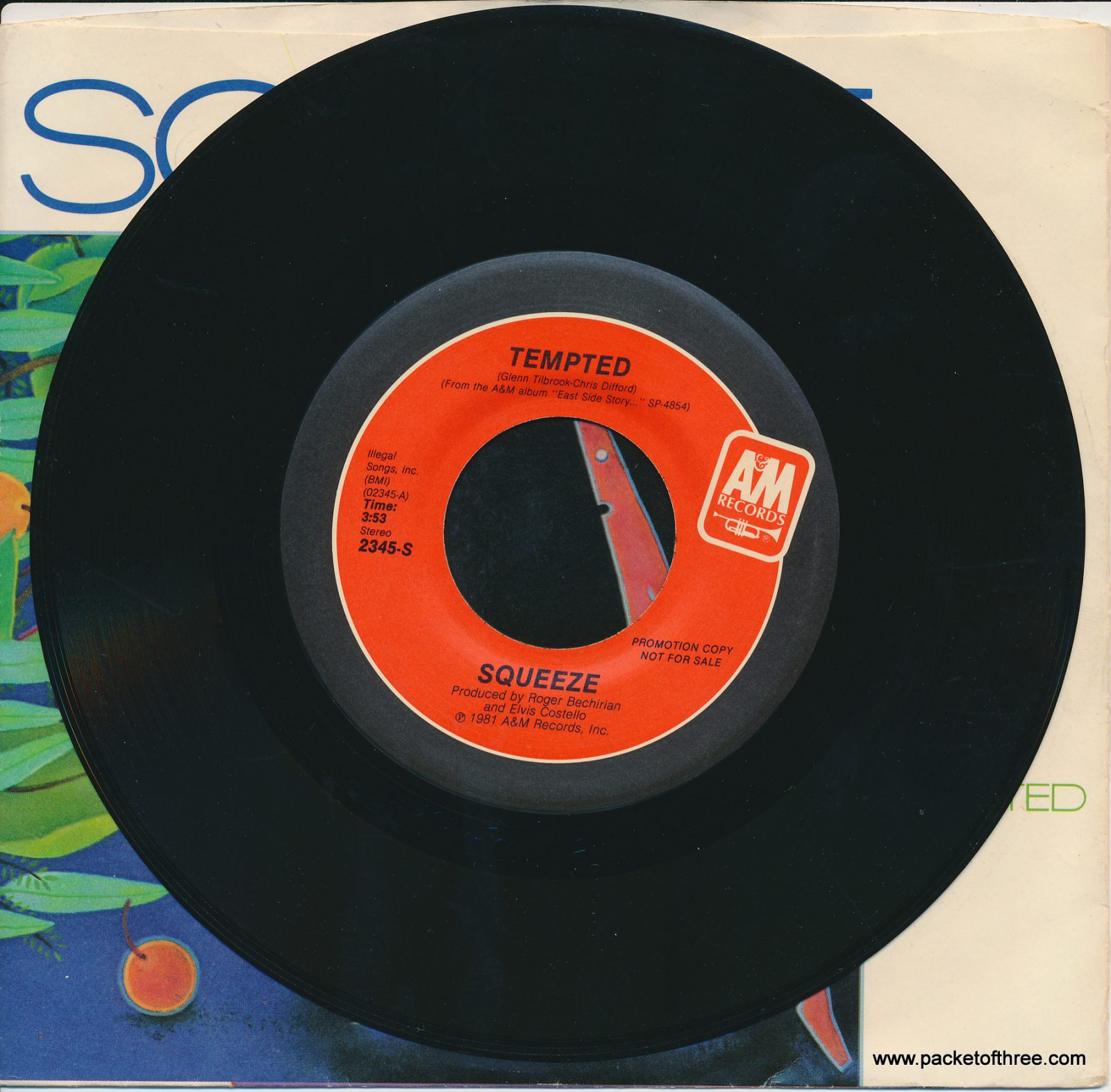 "Tempted - USA - 7"" - picture sleeve - promotional copy"