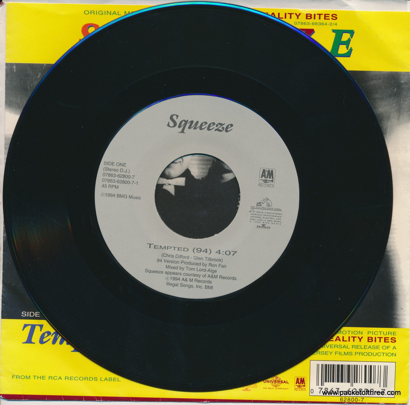 "Tempted 94 - USA - 7"" - picture sleeve"