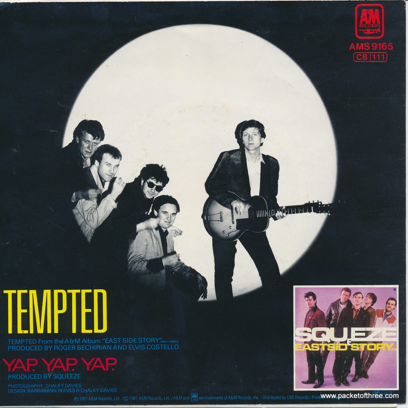 "Tempted - Netherlands - 7"" - picture sleeve"