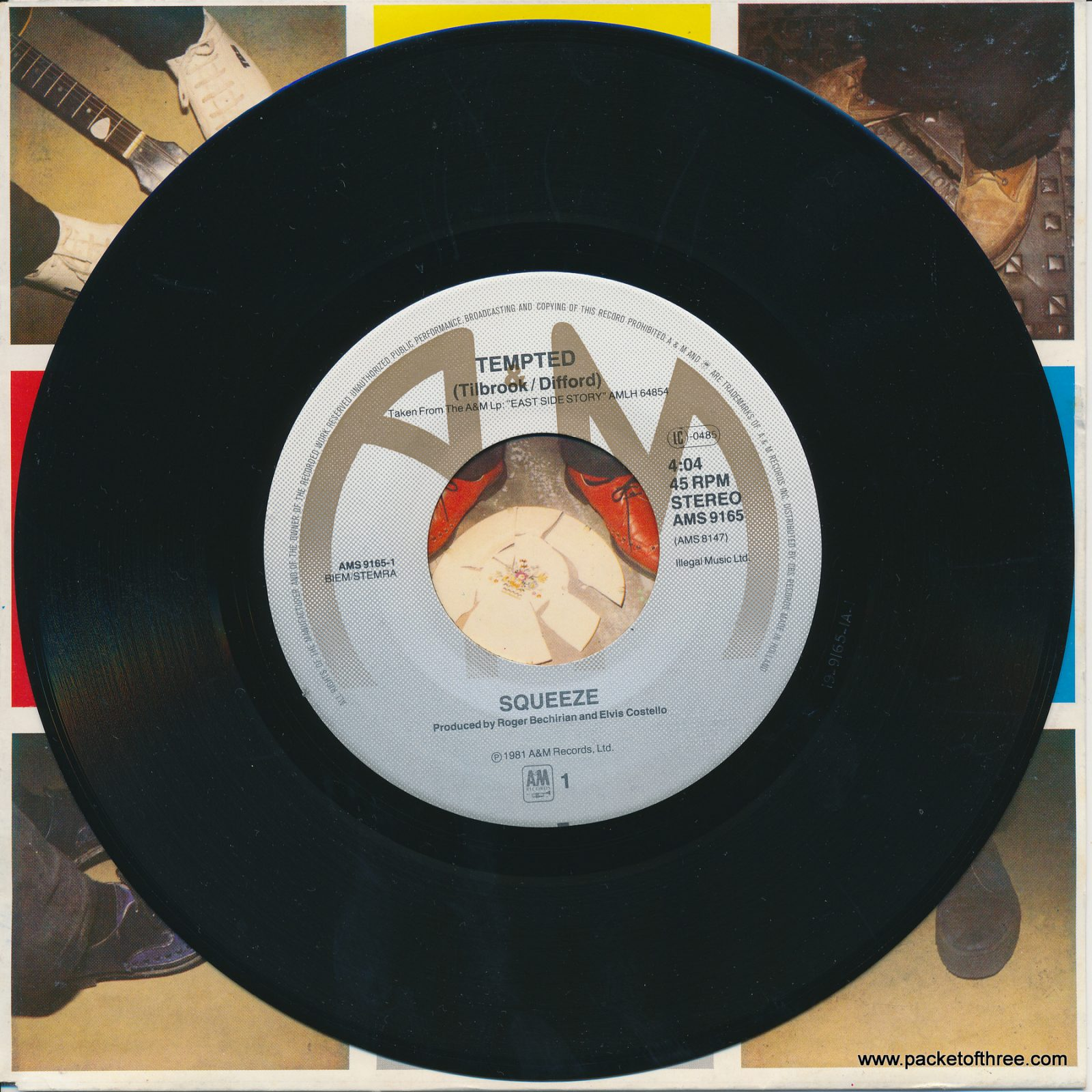 """Tempted - Netherlands - 7"""" - picture sleeve"""