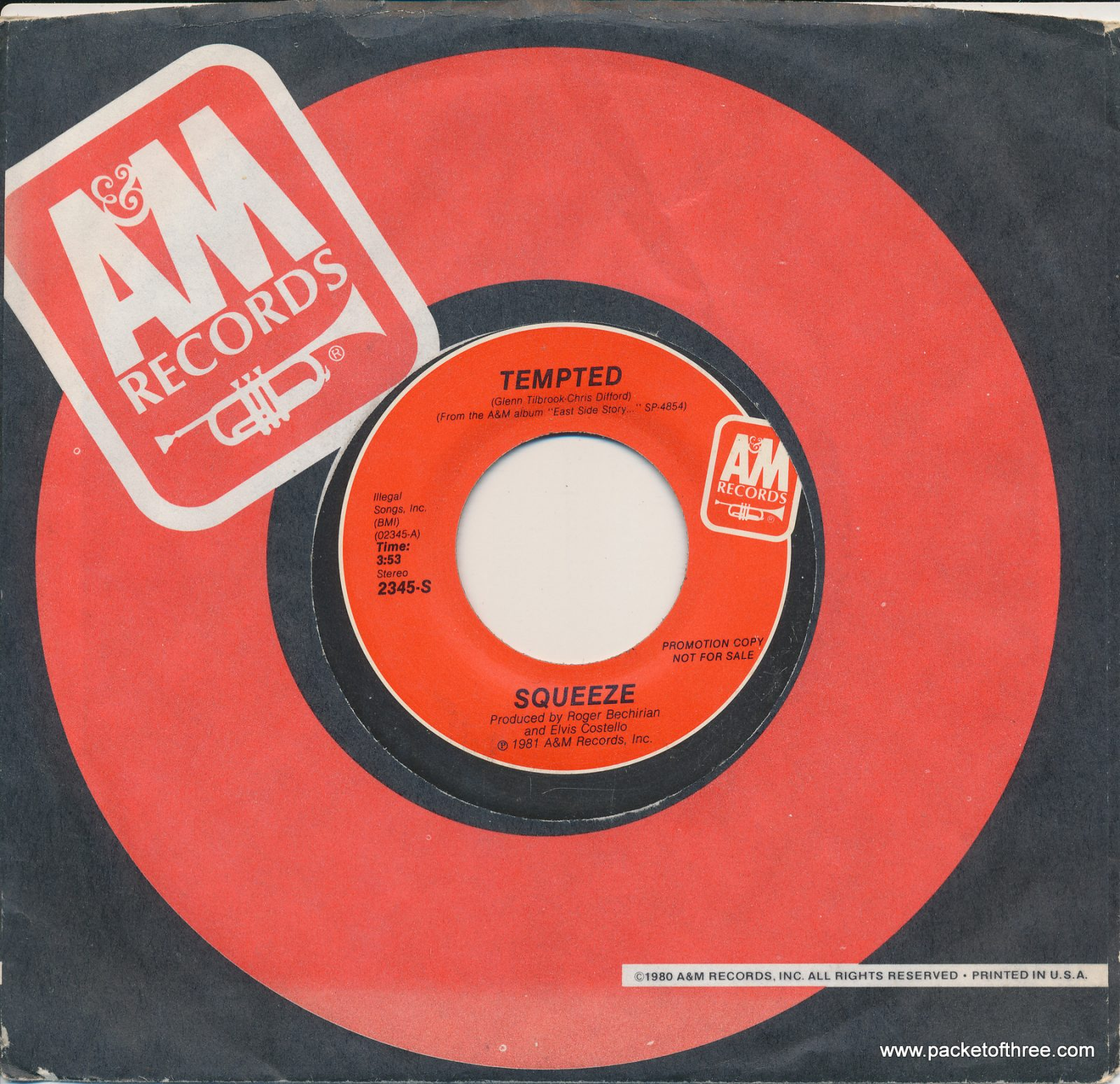 "Tempted - USA - 7"" - promotional copy"