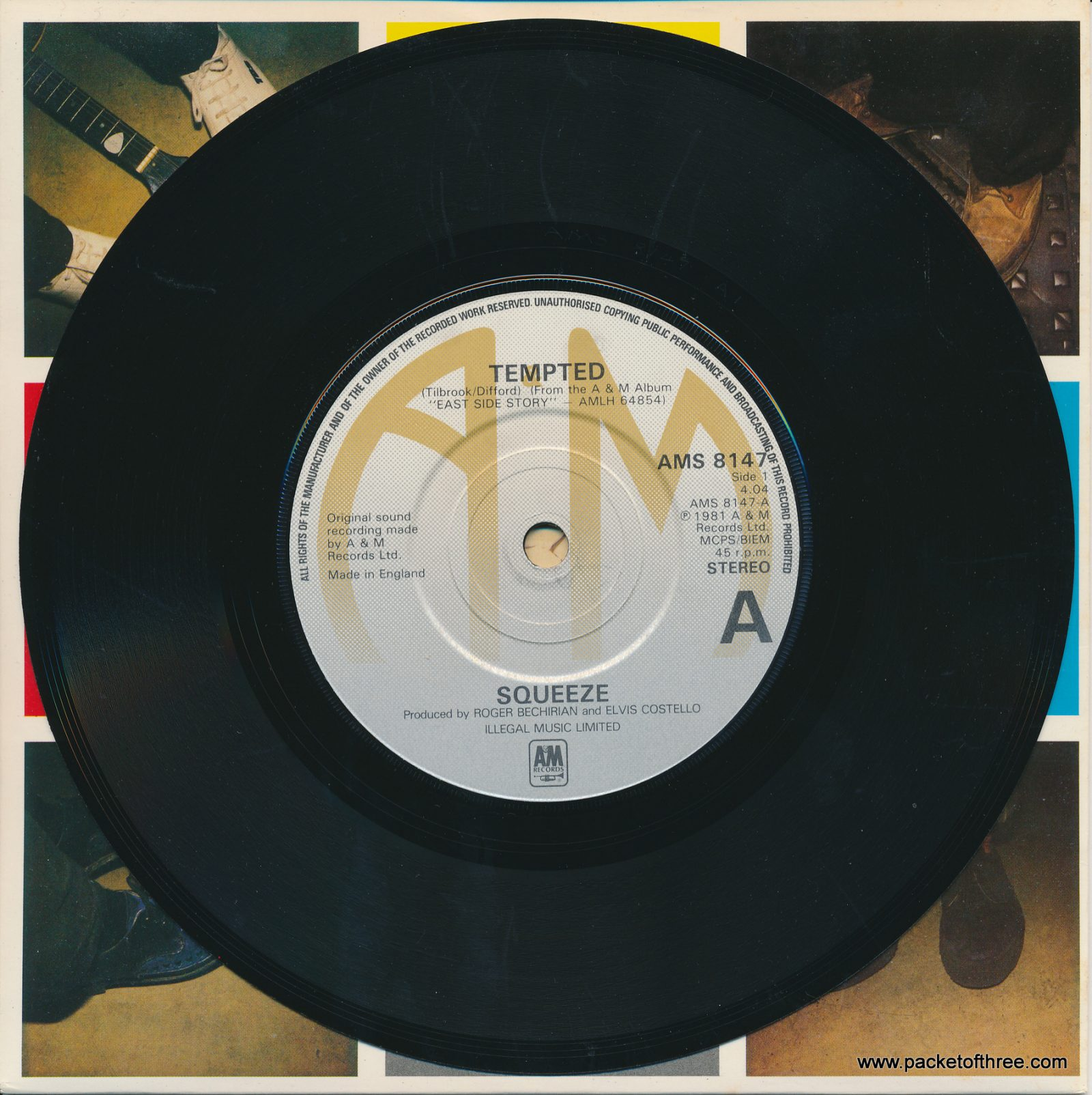 "Tempted - UK - 7"" - picture sleeve"