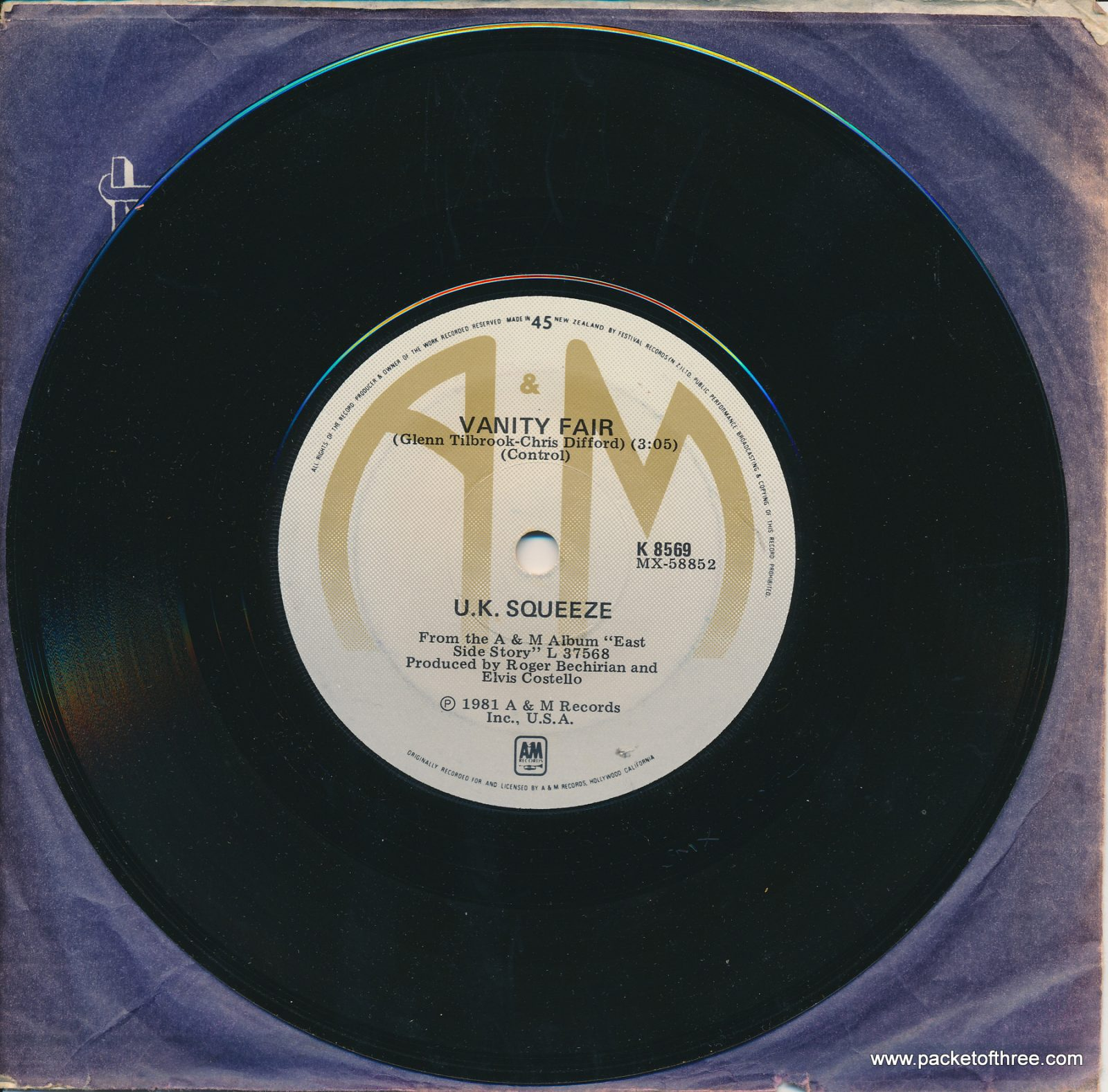 """Labelled With Love - New Zealand - 7"""" - test pressing"""