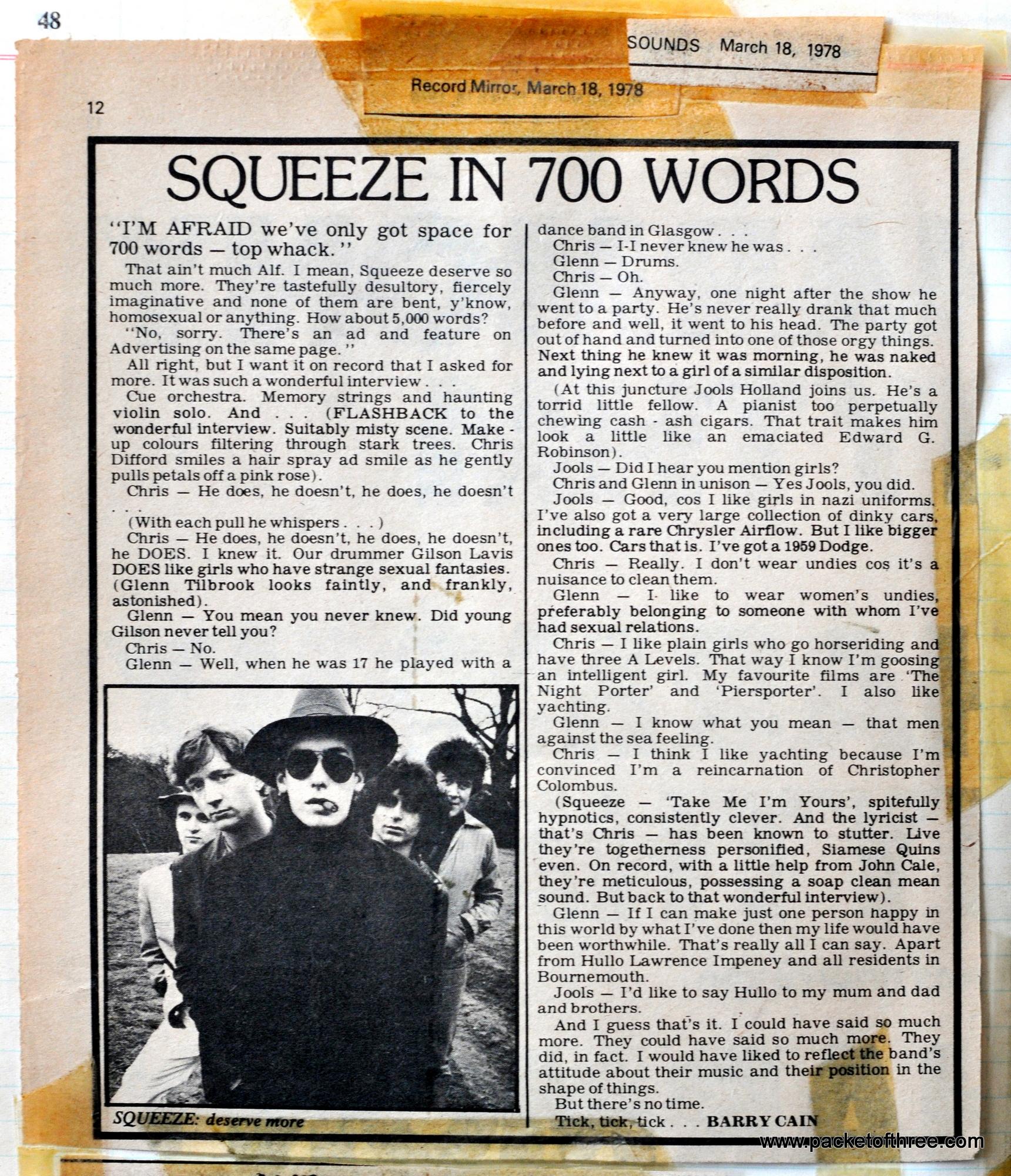 Record Mirror - 18 March 1978