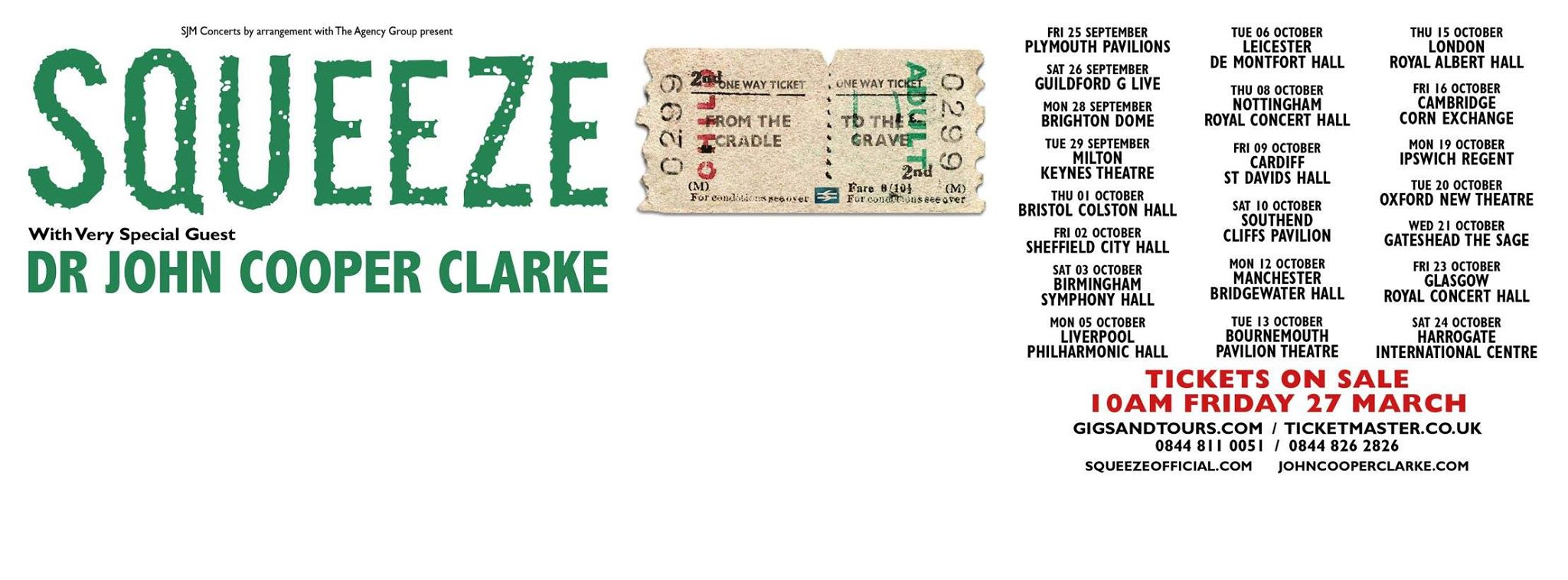 Squeeze 2015 UK Tour