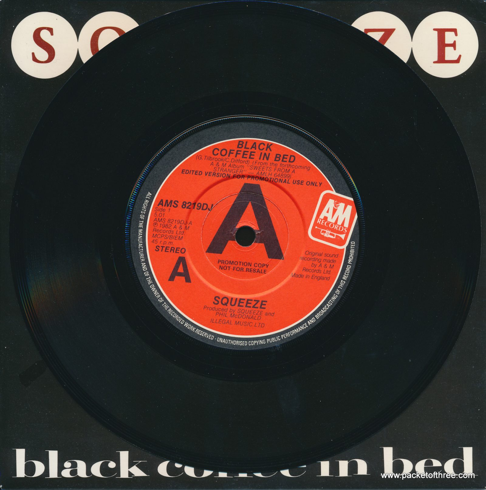 "Black Coffee In Bed - UK - 7"" - picture sleeve - promotional copy"