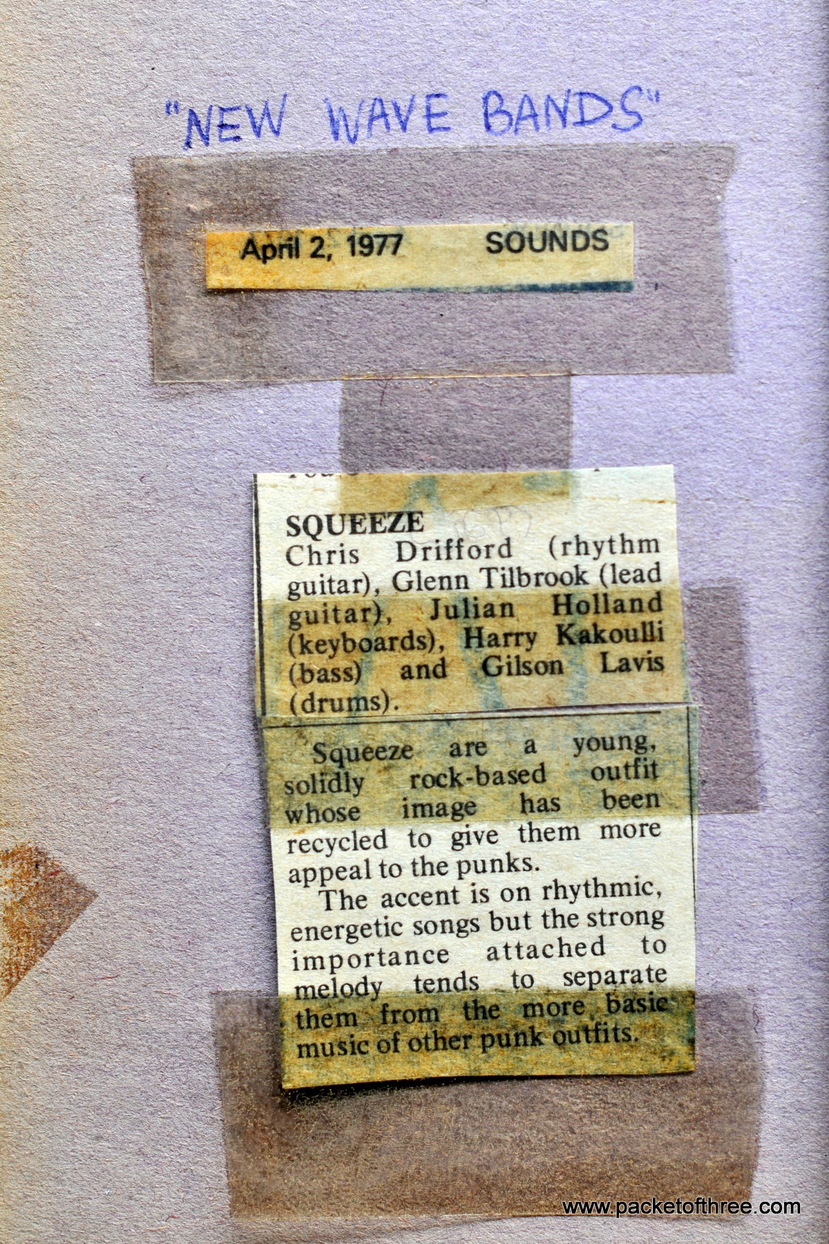 1977-04-02 Review of Squeeze in Sounds