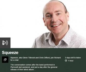 2015-10-03 Squeeze on BBC Radio Devon