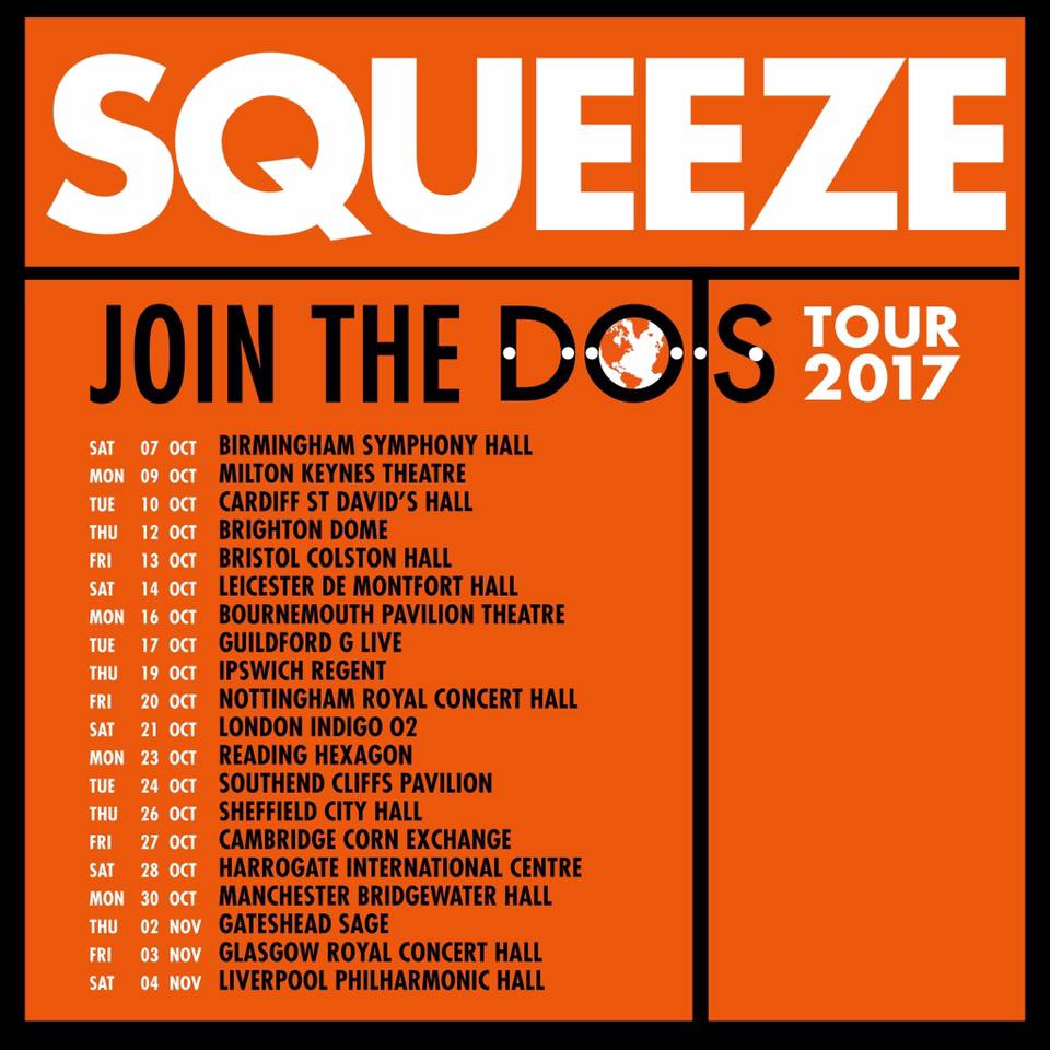 Squeeze 'Join the Dots' UK Tour 2017