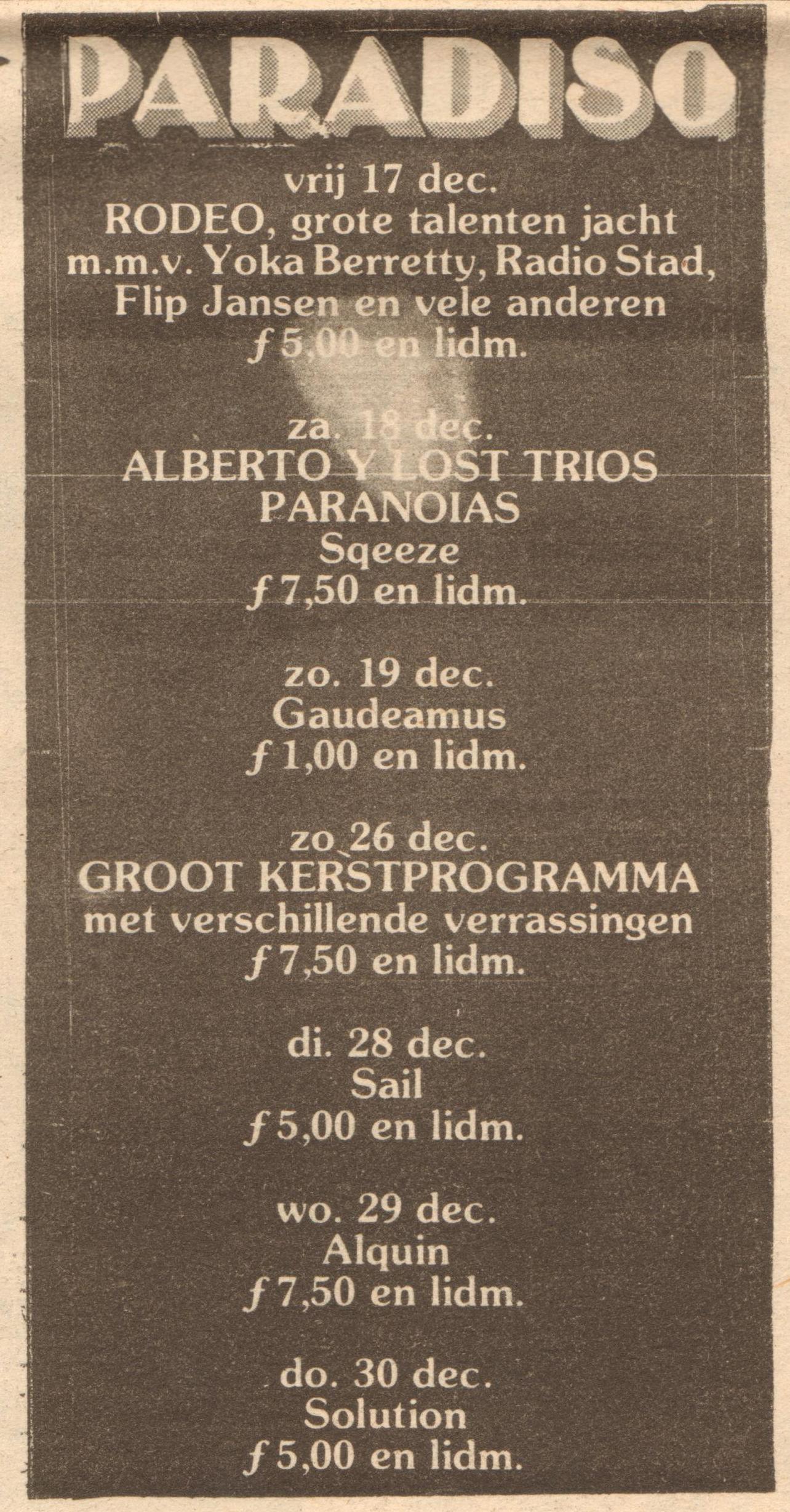 Squeeze Amsterdam 18 December 1976