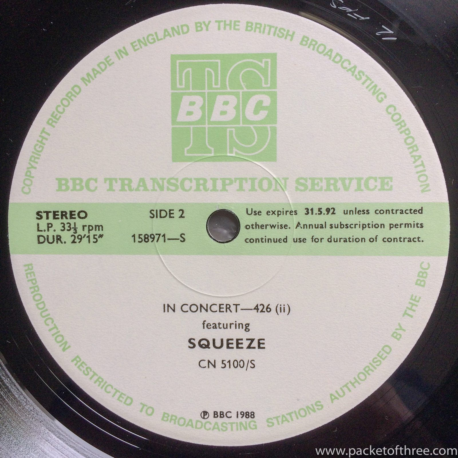 BBC In Concert 426 - packetofthree